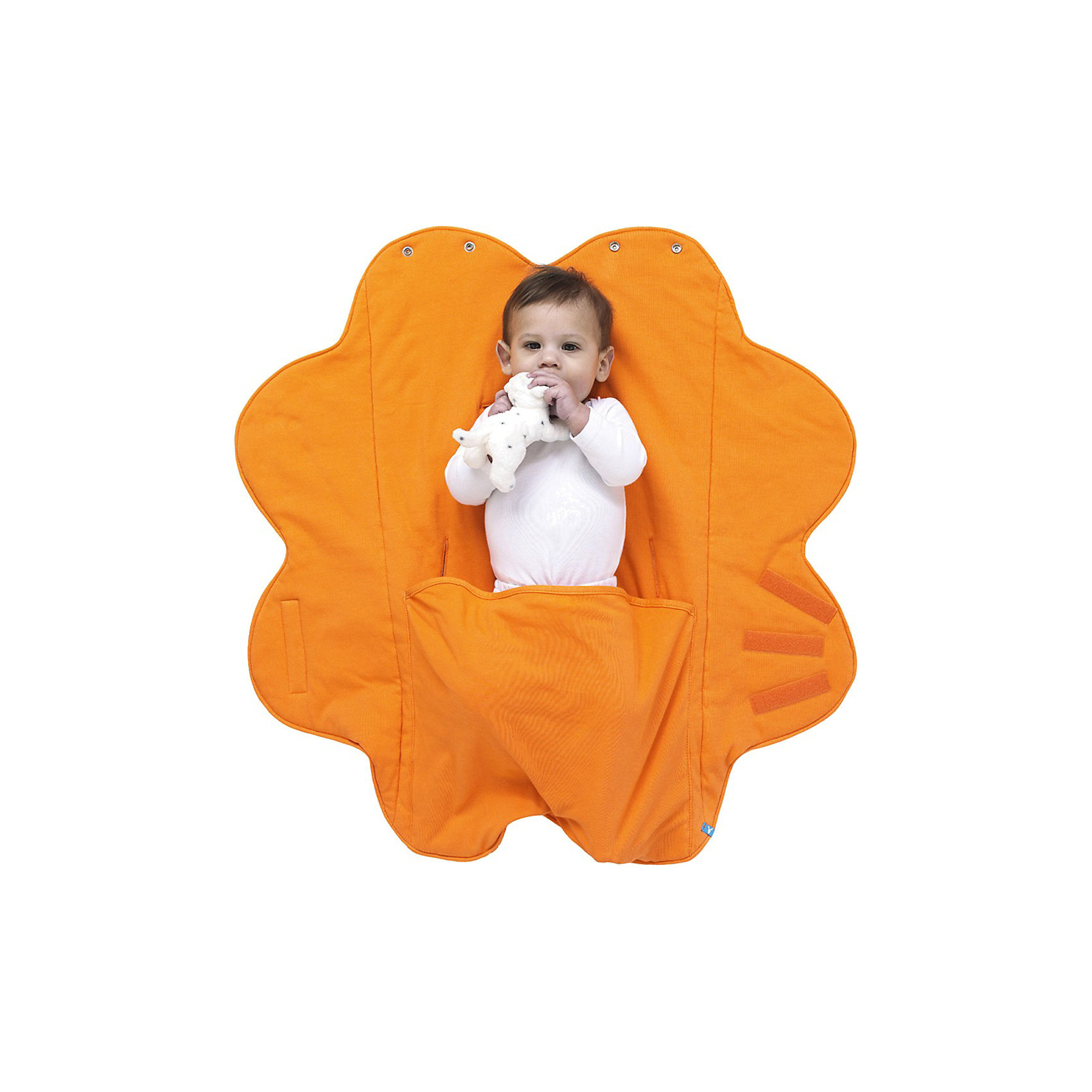 Конверт Лепесток, Wallaboo, хлопок, оранжевыйПеленание<br>Конверт Лепесток, Wallaboo (Валлабу), хлопок, оранжевый - это удобство для Вас и максимальный комфорт для малыша.<br>Многофункциональные конверты «Лепесток» - уникальная разработка Wallaboo. Оригинальный дизайн в виде лепестков сказочного цветка не оставит равнодушной ни одну любящую маму! Конверт выполнен полностью из однотонного хлопкового трикотажа, наполнитель - тонкий слой синтепона 60 грамм. Конверт очень прост в обращении. Вы научитесь им пользоваться с первого раза. Качественные «липучки» обеспечивают надежную фиксацию в любом положении. Специально разработанный карман для ножек ребенка и уютный капюшон, складывающийся из верхних лепестков конверта, защитят вашего малыша в прохладную погоду. У конверта полная совместимость с автокреслами группы 0 – 0+. Конверт Wallaboo Лепесток отлично подходит для разных ситуаций: для выписки из родильного дома; для поездок в автомобиле, благодаря надежной фиксации к автокреслу; в детском шезлонге, в манеже, в коляске Вашему малышу всегда будет комфортно, уютно и тепло. Когда ребенок подрастет, можно использовать конверт в качестве коврика для веселых игр. Благодаря уникальным свойствам микроволокна, материал не вызывает аллергии, не линяет, не скатывается, быстро сохнет, не оставляет вокруг себя волокон и пыли.<br><br>Дополнительная информация:<br><br>- Для детей от 0 до 9 месяцев<br>- Материал: 100% хлопковый трикотаж, наполнитель - тонкий слой синтепона 60 грамм<br>- Размер: 85 х 85 см.<br>- Вес: 350 гр.<br>- Цвет: оранжевый<br>- Машинная стирка при температуре 30 градусов<br><br>Конверт Лепесток, Wallaboo (Валлабу), хлопок, оранжевый порадует вашего малыша и вас безупречным качеством и оригинальным дизайном.<br><br>Конверт Лепесток, Wallaboo (Валлабу), хлопок, оранжевый можно купить в нашем интернет-магазине.<br><br>Ширина мм: 300<br>Глубина мм: 280<br>Высота мм: 90<br>Вес г: 470<br>Возраст от месяцев: 0<br>Возраст до месяцев: 9<br>Пол: Унисекс<br>Возраст: Детски