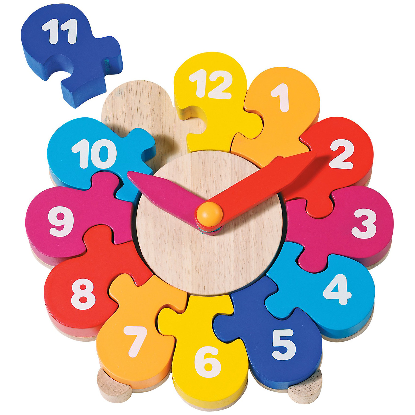 Часы-пазл II, gokiТеперь можно в игровой форме объяснить малышу понятие времени, ведь Часы-пазл II от goki (гоки) - это комбинация пазла и детских часов. Элементы пазла похожи на лепестки прекрасного цветка, собрав их, ребенок обнаружит, что это не что иное, как циферблат часов с цифрами от 1 до 12. Когда все цифры расставлены в правильной последовательности, можно приступать к изучению понятий часов и минут. А чтобы ребёнок научился быстро узнавать минуты, на часах есть минутные деления от 5 до 55, на каждые пять минут, в минутной стрелке сделано маленькое окошко. Стрелки часов легко двигаются пальцем, поэтому маленький исследователь без труда может устанавливать время по собственному желанию.<br><br>Дополнительная информация:<br><br>- Обучающие часы и пазл в одной игрушке;<br>- Часы в игровой форме научат ребёнка узнавать время, различать часы и минуты;<br>- Яркий дизайн;<br>- Материал: дерево, безопасные краски;<br>- Стрелки крутятся очень легко;<br>- Диаметр: 20 см;<br>- Вес: 768 г<br><br>Часы-пазл II, goki (гоки) можно купить в нашем интернет-магазине.<br><br>Ширина мм: 200<br>Глубина мм: 200<br>Высота мм: 200<br>Вес г: 768<br>Возраст от месяцев: 36<br>Возраст до месяцев: 72<br>Пол: Унисекс<br>Возраст: Детский<br>SKU: 3777822