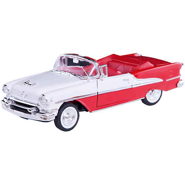 Модель винтажной машины 1:24 Oldsmobile Super 1955, WellyМашинки<br>Модель винтажной машины Oldsmobile Super 1955 от Welly (Велли) станет замечательным подарком для автолюбителей и коллекционеров всех возрастов. В коллекции масштабных моделей Welly представлено все многообразие автотехники: ретро-автомобили, легковые автомобили различных марок, грузовики, автомобили городских служб и многое другое. Все машинки отличаются высокой степенью детализации и тщательной проработкой всех элементов.<br><br>Машинка кабриолет Oldsmobile Super 1955 - это точная копия настоящего ретро-автомобиля в масштабе 1:24. Oldsmobile является одной из старейших автомобильных марок, принадлежавшей корпорации General Motors, она была основана в 1897 году и просуществовала до 2004 года. Модель от Welly оснащена прочным лобовым стеклом, интерьер салона, органы управления и двигатель тщательно проработаны. Двери и капот открываются, руль и колеса вращаются. Корпус машинки выполнен из металла, а отделка салона и декоративные элементы из пластика.<br><br>Дополнительная информация:<br><br>- Материал: металл, пластик, колеса прорезиненные.<br>- Масштаб: 1:24.<br>- Размер модели: 8 х 18 х 5 см.<br>- Размер упаковки: 11 х 23 х 10 см.<br>- Вес: 0,6 кг. <br><br>Модель винтажной машины Oldsmobile Super 1955, Welly можно купить в нашем интернет-магазине.<br>Ширина мм: 230; Глубина мм: 110; Высота мм: 100; Вес г: 567; Возраст от месяцев: 36; Возраст до месяцев: 192; Пол: Мужской; Возраст: Детский; SKU: 3777882;