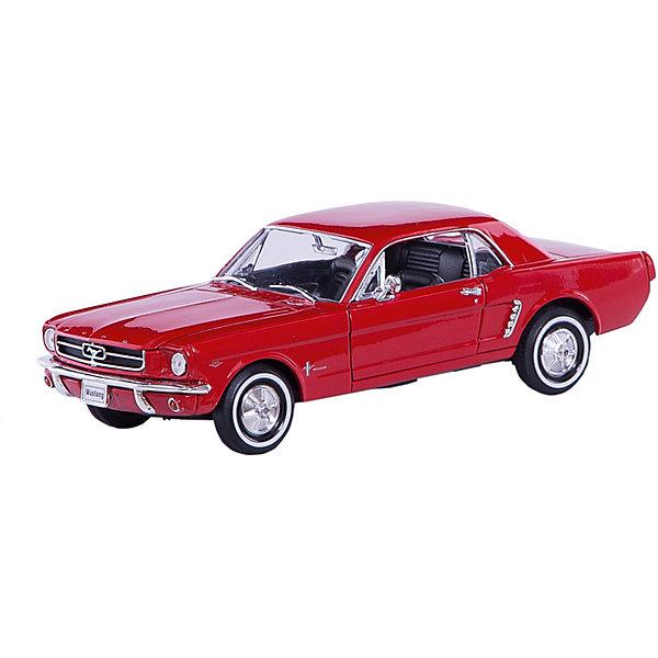 Модель винтажной машины 1:24 Ford Mustang 1964, WellyМашинки<br>Модель винтажной машины Ford Mustang 1964 от Welly (Велли) станет замечательным подарком для автолюбителей и коллекционеров всех возрастов. В коллекции масштабных моделей Welly представлено все многообразие автотехники: ретро-автомобили, легковые автомобили различных марок, грузовики, автомобили городских служб и многое другое. Все машинки отличаются высокой степенью детализации и тщательной проработкой всех элементов.<br><br>Форд Мустанг 1964 года - это копия настоящего ретро-автомобиля Ford Mustang 1964 в масштабе 1:24. Автомобиль купе Ford Mustang был выпущен в 1964 году в США и представлен на Всемирной выставке в Нью-Йорке. Модель от Welly оснащена прочными стеклами, интерьер салона, органы управления и двигатель тщательно проработаны.<br>Двери и капот открываются, а колеса можно поворачивать с помощью руля. Корпус машинки выполнен из металла, а отделка салона и декоративные элементы из пластика.<br><br>Дополнительная информация:<br><br>- Материал: металл, пластик, колеса прорезиненные.<br>- Масштаб: 1:24.<br>- Размер модели: 7 х 19 х 6 см.<br>- Размер упаковки: 11 х 23 х 10 см.<br>- Вес: 0,6 кг. <br><br>Модель винтажной машины Ford Mustang 1964, Welly можно купить в нашем интернет-магазине.<br><br>Ширина мм: 230<br>Глубина мм: 110<br>Высота мм: 110<br>Вес г: 586<br>Возраст от месяцев: 36<br>Возраст до месяцев: 192<br>Пол: Мужской<br>Возраст: Детский<br>SKU: 3777883