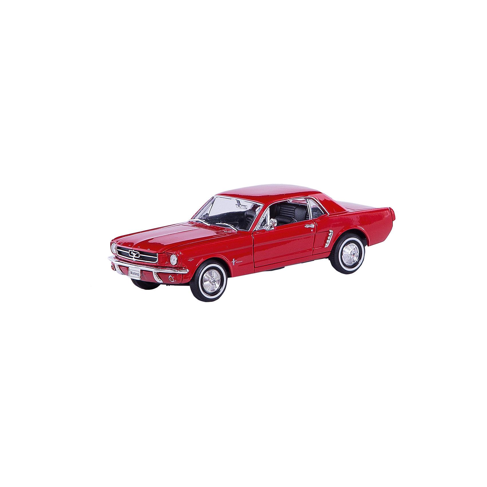 Модель винтажной машины 1:24 Ford Mustang 1964, WellyКоллекционные модели<br>Модель винтажной машины Ford Mustang 1964 от Welly (Велли) станет замечательным подарком для автолюбителей и коллекционеров всех возрастов. В коллекции масштабных моделей Welly представлено все многообразие автотехники: ретро-автомобили, легковые автомобили различных марок, грузовики, автомобили городских служб и многое другое. Все машинки отличаются высокой степенью детализации и тщательной проработкой всех элементов.<br><br>Форд Мустанг 1964 года - это копия настоящего ретро-автомобиля Ford Mustang 1964 в масштабе 1:24. Автомобиль купе Ford Mustang был выпущен в 1964 году в США и представлен на Всемирной выставке в Нью-Йорке. Модель от Welly оснащена прочными стеклами, интерьер салона, органы управления и двигатель тщательно проработаны.<br>Двери и капот открываются, а колеса можно поворачивать с помощью руля. Корпус машинки выполнен из металла, а отделка салона и декоративные элементы из пластика.<br><br>Дополнительная информация:<br><br>- Материал: металл, пластик, колеса прорезиненные.<br>- Масштаб: 1:24.<br>- Размер модели: 7 х 19 х 6 см.<br>- Размер упаковки: 11 х 23 х 10 см.<br>- Вес: 0,6 кг. <br><br>Модель винтажной машины Ford Mustang 1964, Welly можно купить в нашем интернет-магазине.<br><br>Ширина мм: 230<br>Глубина мм: 110<br>Высота мм: 110<br>Вес г: 586<br>Возраст от месяцев: 36<br>Возраст до месяцев: 192<br>Пол: Мужской<br>Возраст: Детский<br>SKU: 3777883
