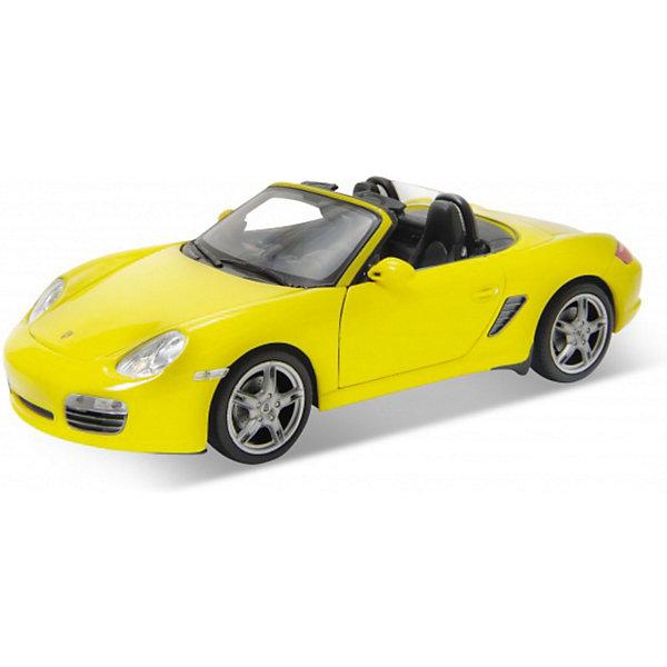 Модель машины 1:24 Porsche Boxster S, convertible., WellyМашинки<br>Модель машины Porsche Boxster S, convertible от Welly (Велли) станет замечательным подарком для автолюбителей всех возрастов. В коллекции масштабных моделей Welly представлено все многообразие автотехники: ретро-автомобили, легковые автомобили различных марок, грузовики, автомобили городских служб и многое другое. Все машинки отличаются высокой степенью детализации и тщательной проработкой всех элементов.<br><br>Машинка Porsche Boxster S, convertible представляет собой точную копию оригинального автомобиля в масштабе 1:24. Porsche Boxster S Convertible это мощный спортивный автомобиль, он был выпущен в 2008 году и является одним из самых дорогих автомобилей в мире. Модель от Welly оснащена прочным лобовым стеклом и зеркалами заднего вида, интерьер салона, двигатель и органы управления тщательно проработаны. Двери и капот открываются, колеса поворачиваются. Корпус машинки выполнен из металла, а отделка салона и декоративные элементы из пластика.<br><br>Дополнительная информация:<br><br>- Материал: металл, пластик, колеса прорезиненные.<br>- Масштаб: 1:24.<br>- Размер модели: 8 х 17 х 5 см.<br>- Размер упаковки: 11 х 23 х 10 см.<br>- Вес: 0,6 кг. <br><br>Модель машины Porsche Boxster S, convertible, Welly можно купить в нашем интернет-магазине.<br><br>Ширина мм: 230<br>Глубина мм: 110<br>Высота мм: 110<br>Вес г: 485<br>Возраст от месяцев: 36<br>Возраст до месяцев: 192<br>Пол: Мужской<br>Возраст: Детский<br>SKU: 3777885