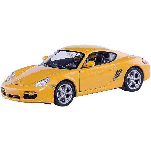 Модель машины 1:24 Porsche Cayman S, WellyМашинки<br>Модель машины Porsche Cayman S от Welly (Велли) станет замечательным подарком для автолюбителей всех возрастов. В коллекции масштабных моделей Welly представлено все многообразие автотехники: ретро-автомобили, легковые автомобили различных марок, грузовики, автомобили городских служб и многие другие. Все машинки отличаются высокой степенью детализации и тщательной проработкой всех элементов.<br><br>Машинка Porsche Cayman S - это точная копия оригинального автомобиля в масштабе 1:24. Немецкий автомобиль купе Porsche Cayman S отличается спортивным дизайном, скоростью и маневренностью. Модель от Welly оснащена прочными стеклами, зеркалами заднего вида, тщательно проработанными панелью управления и двигателем. Двери и капот открываются, колеса крутятся. Корпус машинки выполнен из металла, а отделка салона и декоративные элементы из пластика.<br><br>Дополнительная информация:<br><br>- Материал: металл, пластик, колеса прорезиненные.<br>- Масштаб: 1:24.<br>- Размер упаковки: 11 х 23 х 10 см.<br>- Вес: 0,6 кг. <br><br>Модель машины Porsche Cayman S, Welly можно купить в нашем интернет-магазине.<br>Ширина мм: 230; Глубина мм: 110; Высота мм: 110; Вес г: 464; Возраст от месяцев: 36; Возраст до месяцев: 192; Пол: Мужской; Возраст: Детский; SKU: 3777886;