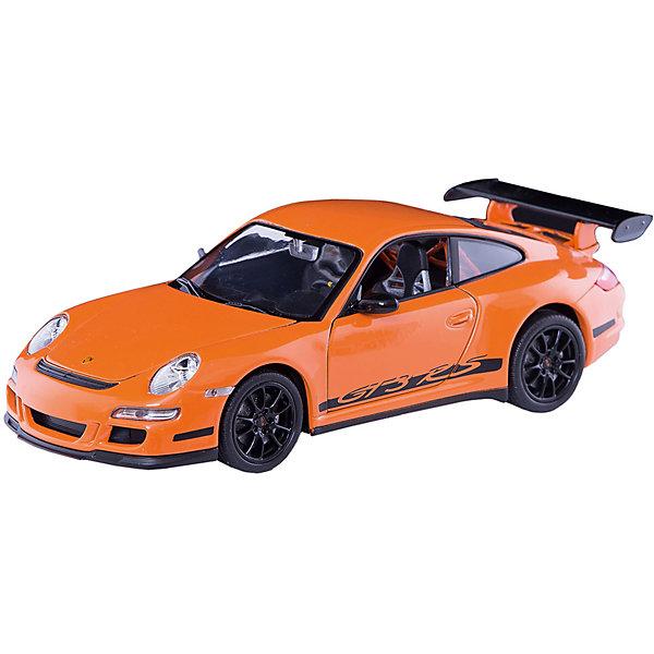 Модель машины 1:24 PORSCHE 911 (997) GT3 RS, WellyМашинки<br>Модель машины Porsche 911 (997) GT3 RS от Welly (Велли) станет замечательным подарком для автолюбителей всех возрастов. В коллекции масштабных моделей Welly представлено все многообразие автотехники: ретро-автомобили, легковые автомобили различных марок, грузовики, автомобили городских служб и многое другое. Все машинки отличаются высокой степенью детализации и тщательной проработкой всех элементов.<br><br>Спорткар Porsche 911 (997) GT3 RS представляет собой точную копию настоящего автомобиля в масштабе 1:24. Немецкий автомобиль Porsche 997 появился в 2004 году и выпускается и поныне, отличается спортивным дизайном, скоростью и маневренностью. Модель от Welly оснащена прочными стеклами и зеркалами заднего вида, интерьер<br>салона, двигатель и органы управления тщательно проработаны. Двери и капот открываются, колеса вращаются. Корпус машинки выполнен из металла, а отделка салона и  декоративные элементы из пластика.<br><br>Дополнительная информация:<br><br>- Материал: металл, пластик, колеса прорезиненные.<br>- Масштаб: 1:24.<br>- Размер упаковки: 11 х 23 х 10 см.<br>- Вес: 0,48 кг. <br><br>Модель машины Porsche 911 (997) GT3 RS, Welly можно купить в нашем интернет-магазине.<br><br>Ширина мм: 230<br>Глубина мм: 110<br>Высота мм: 100<br>Вес г: 477<br>Возраст от месяцев: 36<br>Возраст до месяцев: 192<br>Пол: Мужской<br>Возраст: Детский<br>SKU: 3777888