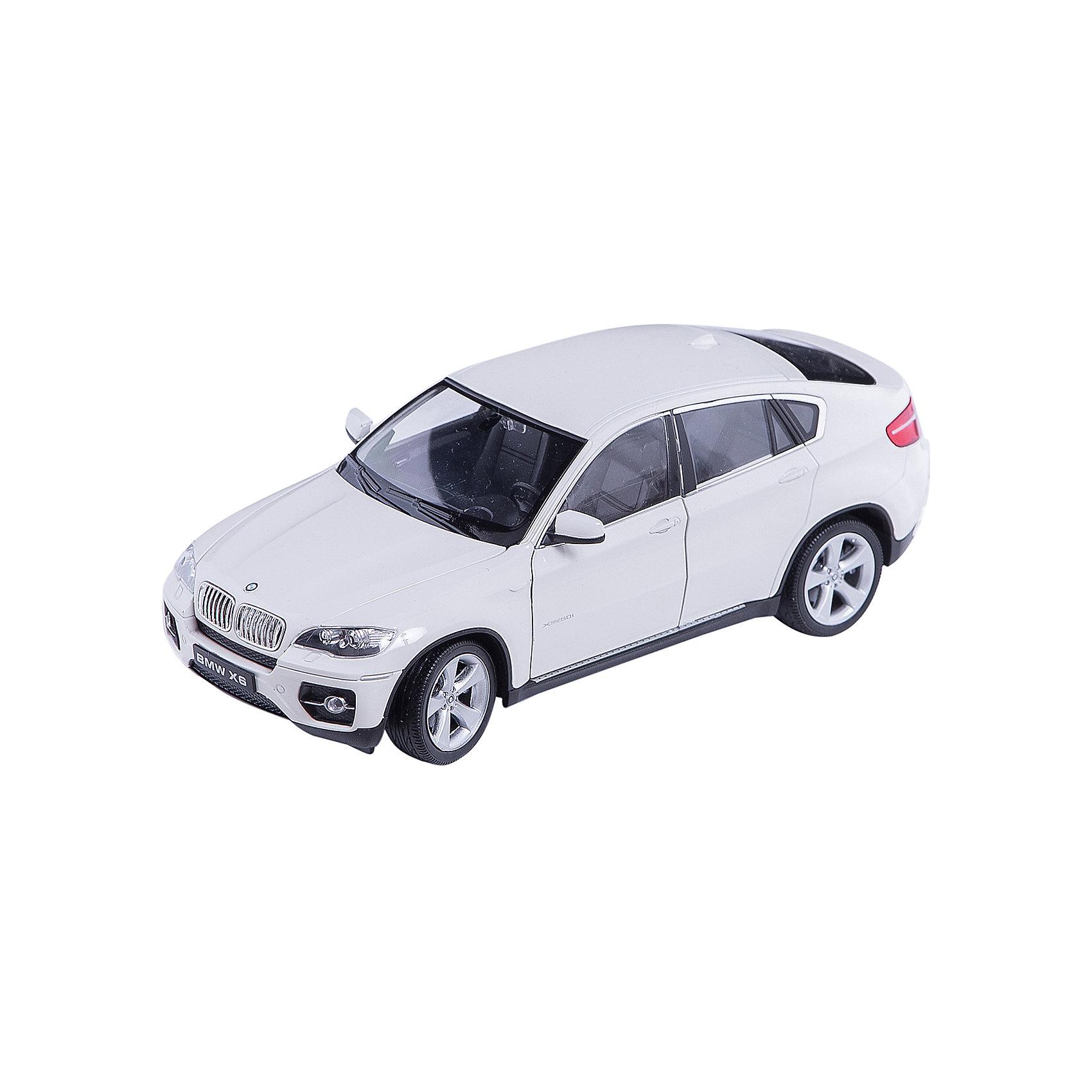 Модель машины 1:24 BMW X6, WellyМодель машины BMW X6 от Welly (Велли) станет замечательным подарком для автолюбителей и коллекционеров всех возрастов. В коллекции масштабных моделей Welly представлено все многообразие автотехники: ретро-автомобили, легковые автомобили различных марок, грузовики, автомобили городских служб и многое другое. Все машинки отличаются высокой степенью детализации и тщательной проработкой всех элементов.<br><br>Машинка BMW X6 красного цвета представляет собой точную копию настоящего внедорожника в масштабе 1:24. Впервые серийная версия BMW X6 была представлена в 2008 году на автосалоне в Детройте и отличается необычным дизайном кузова, сочетающем в себе внедорожник и купе. Модель от Welly оснащена прочными стеклами и зеркалами заднего вида, интерьер салона, двигатель и органы управления тщательно проработаны. Двери и капот открываются, колеса вращаются. Корпус машинки выполнен из металла, а отделка салона и декоративные элементы из пластика.<br><br>Дополнительная информация:<br><br>- Материал: металл, пластик, колеса прорезиненные.<br>- Масштаб: 1:24.<br>- Размер модели: 8 х 18 х 5 см.<br>- Размер упаковки: 11 х 23 х 10 см.<br>- Вес: 0,54 кг. <br><br>Модель машины BMW X6, Welly можно купить в нашем интернет-магазине.<br><br>Ширина мм: 230<br>Глубина мм: 110<br>Высота мм: 110<br>Вес г: 544<br>Возраст от месяцев: 36<br>Возраст до месяцев: 192<br>Пол: Мужской<br>Возраст: Детский<br>SKU: 3777890