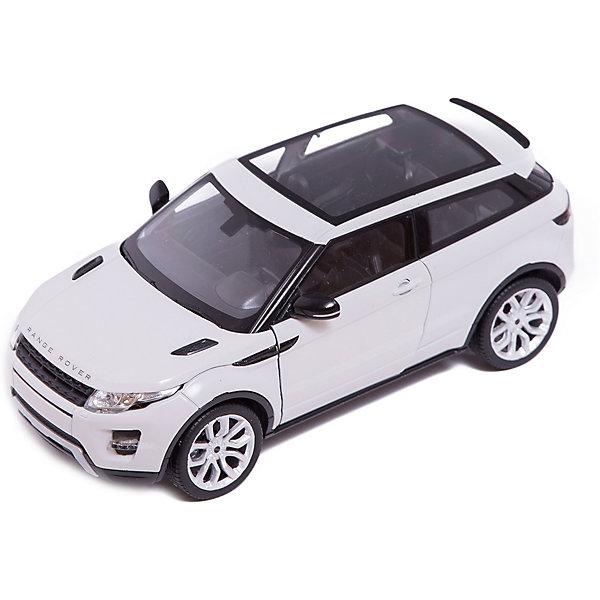 Модель машины 1:24 Range Rover Evoque, WellyМашинки<br>Модель машины Range Rover Evoque, Welly (Велли) станет замечательным подарком для автолюбителей и коллекционеров всех возрастов. В коллекции масштабных моделей Welly представлено все многообразие автотехники: ретро-автомобили, легковые автомобили различных марок, грузовики, автомобили городских служб и многое другое. Все машинки отличаются высокой степенью детализации и тщательной проработкой всех элементов.<br><br>Машинка Range Rover Evoque представляет собой точную копию настоящего автомобиля в масштабе 1:24. Джип Range Rover Evoque отличает легкость и компактность, и в тоже время отличная приспособленность к любым  погодным условиям и покрытиям. Модель от Welly оснащена прочными стеклами и зеркалами заднего вида, интерьер салона, двигатель и органы управления тщательно проработаны. Двери и капот открываются, а колеса можно поворачивать с помощью руля. Корпус автомобиля выполнен из металла, а отделка салона и декоративные элементы из пластика.<br><br>Дополнительная информация:<br><br>- Материал: металл, пластик, колеса прорезиненные.<br>- Масштаб: 1:24.<br>- Размер упаковки: 11 х 23 х 11 см.<br>- Вес: 0,5 кг. <br><br>Модель машины Land Range Rover Evoque, Welly можно купить в нашем интернет-магазине.<br>Ширина мм: 230; Глубина мм: 110; Высота мм: 105; Вес г: 546; Возраст от месяцев: 36; Возраст до месяцев: 192; Пол: Мужской; Возраст: Детский; SKU: 3777897;