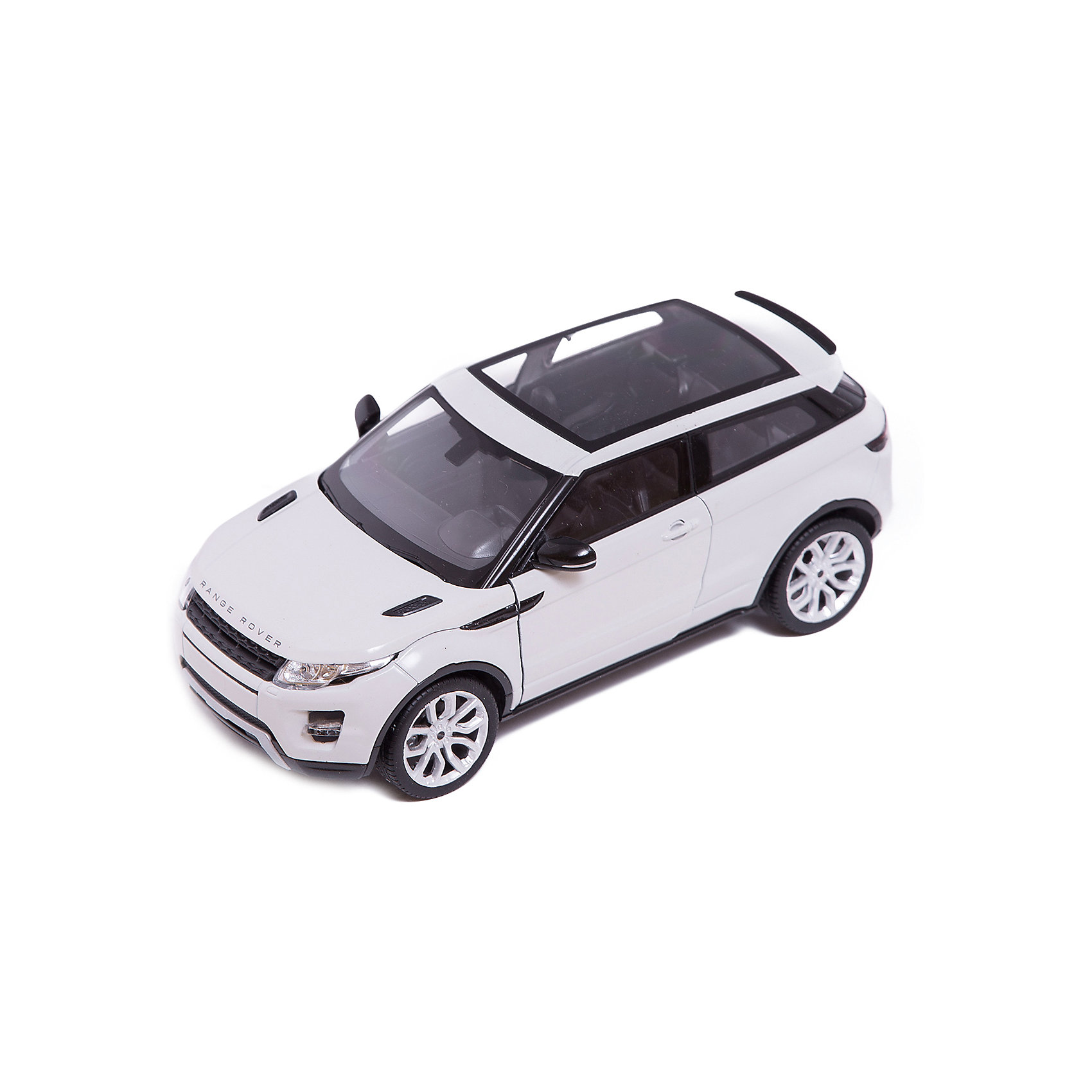 Модель машины 1:24 Range Rover Evoque, WellyМодель машины Range Rover Evoque, Welly (Велли) станет замечательным подарком для автолюбителей и коллекционеров всех возрастов. В коллекции масштабных моделей Welly представлено все многообразие автотехники: ретро-автомобили, легковые автомобили различных марок, грузовики, автомобили городских служб и многое другое. Все машинки отличаются высокой степенью детализации и тщательной проработкой всех элементов.<br><br>Машинка Range Rover Evoque представляет собой точную копию настоящего автомобиля в масштабе 1:24. Джип Range Rover Evoque отличает легкость и компактность, и в тоже время отличная приспособленность к любым  погодным условиям и покрытиям. Модель от Welly оснащена прочными стеклами и зеркалами заднего вида, интерьер салона, двигатель и органы управления тщательно проработаны. Двери и капот открываются, а колеса можно поворачивать с помощью руля. Корпус автомобиля выполнен из металла, а отделка салона и декоративные элементы из пластика.<br><br>Дополнительная информация:<br><br>- Материал: металл, пластик, колеса прорезиненные.<br>- Масштаб: 1:24.<br>- Размер упаковки: 11 х 23 х 11 см.<br>- Вес: 0,5 кг. <br><br>Модель машины Land Range Rover Evoque, Welly можно купить в нашем интернет-магазине.<br><br>Ширина мм: 230<br>Глубина мм: 110<br>Высота мм: 105<br>Вес г: 546<br>Возраст от месяцев: 36<br>Возраст до месяцев: 192<br>Пол: Мужской<br>Возраст: Детский<br>SKU: 3777897