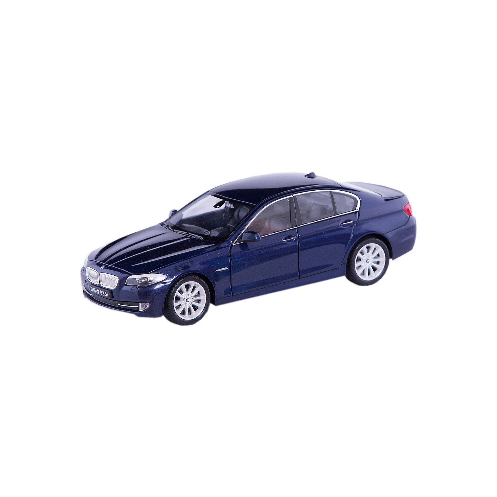 Модель машины 1:24 BMW 535I, WellyМодель машины BMW 535I, Welly (Велли) станет замечательным подарком для автолюбителей и коллекционеров всех возрастов. В коллекции масштабных моделей Welly представлено все многообразие автотехники: ретро-автомобили, легковые автомобили различных марок, грузовики, автомобили городских служб и многое другое. Все машинки отличаются высокой степенью детализации и тщательной проработкой всех элементов.<br><br>Машинка BMW 535I представляет собой точную копию настоящего автомобиля в масштабе 1:24. Автомобиль BMW 535I выпускается с 2010 года и отличается способностью ускоряться до 100 км/ч за 6 секунд. Модель от Welly оснащена прочными стеклами и зеркалами заднего вида, интерьер салона, двигатель и органы управления тщательно проработаны. Двери и капот открываются, а колеса можно поворачивать с помощью руля. Корпус автомобиля выполнен из металла, а отделка салона и декоративные элементы из пластика.<br><br>Дополнительная информация:<br><br>- Материал: металл, пластик, колеса прорезиненные.<br>- Масштаб: 1:24.<br>- Размер модели: 8 х 18 х 6 см.<br>- Размер упаковки: 11 х 23 х 11 см.<br>- Вес: 0,55 кг. <br><br>Модель машины BMW 535I, Welly можно купить в нашем интернет-магазине.<br><br>Ширина мм: 230<br>Глубина мм: 115<br>Высота мм: 105<br>Вес г: 550<br>Возраст от месяцев: 36<br>Возраст до месяцев: 192<br>Пол: Мужской<br>Возраст: Детский<br>SKU: 3777898