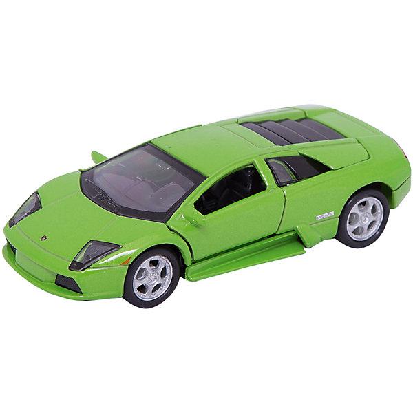 Модель машины 1:34-39 LAMBORGHINI MURCIELAGO., WellyМашинки<br>Модель машины Lamborghini Murcielago, Welly (Велли) станет замечательным подарком для автолюбителей и коллекционеров всех возрастов. В коллекции масштабных моделей Welly представлено все многообразие автотехники: ретро-автомобили, легковые автомобили различных марок, грузовики, автомобили городских служб и многое другое. Все машинки отличаются высокой степенью детализации и тщательной проработкой всех элементов.<br><br>Машинка  Lamborghini Murcielago представляет собой точную копию настоящего гиперкара в масштабе 1:34-39. Роскошный автомобиль Lamborghini Murcielago появился на свет в 2001 году, у него оригинальный спортивный дизайн, высокая скорость и мощный двигатель. Модель от Welly оснащена прочным лобовым стеклом, интерьер салона и органы управления тщательно проработаны. Двери открываются вверх, руль не вращается. Автомобиль снабжен инерционным механизмом, ускоряется при толчке. Корпус модели выполнен из металла, а отделка салона и декоративные элементы из пластика.<br><br>Дополнительная информация:<br><br>- Материал: металл, пластик, колеса прорезиненные.<br>- Масштаб: 1:34-39.<br>- Размер модели: 5 х 13 х 4 см.<br>- Размер упаковки: 15 х 12 х 6 см.<br>- Вес: 0,148 кг. <br><br>Модель машины  Lamborghini Murcielago, Welly можно купить в нашем интернет-магазине.<br>Ширина мм: 145; Глубина мм: 115; Высота мм: 60; Вес г: 152; Возраст от месяцев: 36; Возраст до месяцев: 192; Пол: Мужской; Возраст: Детский; SKU: 3777903;