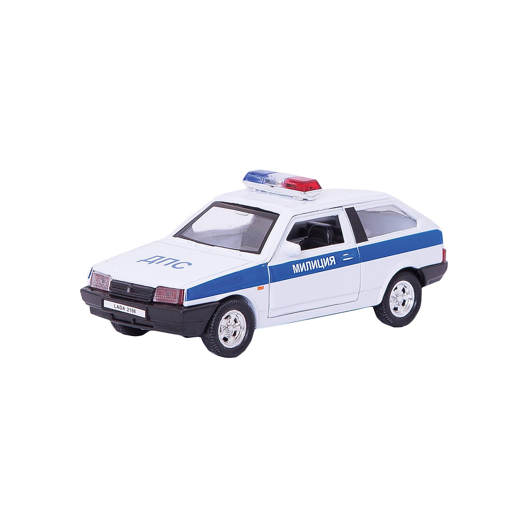 Welly Модель машины 1:34-39 LADA 2108 МИЛИЦИЯ ДПС., Welly автомобиль welly lada 2108 rally 1 34 39 белый