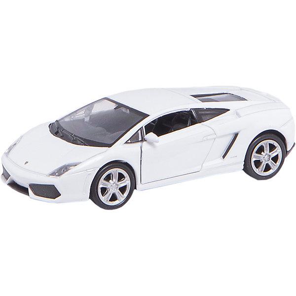Модель машины 1:34-39 Lamborghini Gallardo, WellyМашинки<br>Модель машины Lamborghini Gallardo от Welly (Велли) станет замечательным подарком для автолюбителей всех возрастов. В коллекции масштабных моделей Welly представлено все многообразие автотехники: ретро-автомобили, легковые автомобили различных марок, грузовики, автомобили городских служб и многие другие. Все машинки отличаются высокой степенью детализации и тщательной проработкой всех элементов.<br><br>Машинка Ламборджини Галлардо - это точная копия оригинального спорткара в масштабе 1:34-39. Автомобиль купе Lamborghini Gallardo дебютировал в 2003 году на Автошоу в Женеве, у него оригинальный спортивный дизайн, высокая скоростью и маневренность. Модель от Welly оснащена прочными стеклами и зеркалами заднего вида, интерьер салона и органы управления тщательно проработаны. Передние двери открываются. Автомобиль снабжен инерционным механизмом, ускоряется при толчке. Корпус машинки выполнен из металла, а отделка салона и декоративные элементы из пластика.<br><br>Дополнительная информация:<br><br>- Материал: металл, пластик, колеса прорезиненные.<br>- Масштаб: 1:34-39.<br>- Размер упаковки: 15 х 6 х 12 см.<br>- Вес: 0,15 кг. <br><br>Внимание: товар представлен в ассортименте. К сожалению, выбрать определенный цвет заранее не представляется возможным.<br><br>Модель машины Lamborghini Gallardo, Welly можно купить в нашем интернет-магазине.<br><br>Ширина мм: 150<br>Глубина мм: 60<br>Высота мм: 110<br>Вес г: 156<br>Возраст от месяцев: 36<br>Возраст до месяцев: 192<br>Пол: Мужской<br>Возраст: Детский<br>SKU: 3777919
