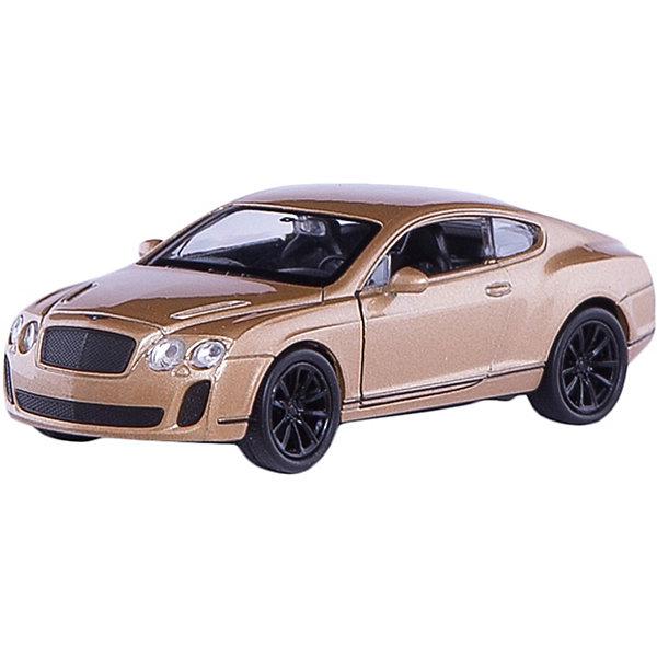 Модель машины 1:34-39 Bentley Continental Supersports, WellyМашинки<br>Модель машины Bentley Continental Supersports, Welly (Велли) станет замечательным подарком для автолюбителей и коллекционеров всех возрастов. В коллекции масштабных моделей Welly представлено все многообразие автотехники: ретро-автомобили, легковые автомобили различных марок, грузовики, автомобили городских служб и многое другое. Все машинки отличаются высокой степенью детализации и тщательной проработкой всех элементов.<br><br>Машинка Бентли Континенталь Суперспортс представляет собой точную копию настоящего ультрадорогого автомобиля в масштабе 1:34-39. Автомобиль Bentley Continental Supersports - самый быстрый и самый мощный автомобиль когда-либо созданный компанией Bentley, впервые был выпущен в 2009 году. Модель от Welly оснащена прочными стеклами и зеркалами заднего вида, интерьер салона и органы управления тщательно проработаны. Передние двери открываются. Автомобиль снабжен инерционным механизмом, ускоряется при<br>толчке. Корпус машинки выполнен из металла, а отделка салона и декоративные элементы из пластика.<br><br>Дополнительная информация:<br><br>- Материал: металл, пластик, колеса прорезиненные.<br>- Масштаб: 1:34-39.<br>- Размер упаковки: 15 х 6 х 12 см.<br>- Вес: 0,15 кг. <br><br>Модель машины Bentley Continental Supersports, Welly можно купить в нашем интернет-магазине.<br>Ширина мм: 145; Глубина мм: 60; Высота мм: 110; Вес г: 147; Возраст от месяцев: 36; Возраст до месяцев: 192; Пол: Мужской; Возраст: Детский; SKU: 3777920;