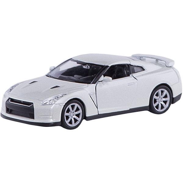 Модель машины 1:34-39 Nissan GTR, WellyМашинки<br>Модель машины Nissan GTR от Welly (Велли) станет замечательным подарком для автолюбителей и коллекционеров всех возрастов. В коллекции масштабных моделей Welly представлено все многообразие автотехники: ретро-автомобили, легковые автомобили различных марок, грузовики, автомобили городских служб и многое другое. Все машинки отличаются высокой степенью детализации и тщательной проработкой всех элементов.<br><br>Машинка Nissan GTR представляет собой точную копию настоящего автомобиля в масштабе 1:34-39. Спортивный автомобиль купе Ниссан ГТР выпускается в Японии с 2007 года и отличается оригинальным дизайном с аэродинамичным кузовом, высокой скоростью и отличной управляемостью. Модель от Welly оснащена прочными стеклами и зеркалами заднего вида, интерьер салона и органы управления тщательно проработаны. Передние двери открываются. Автомобиль снабжен инерционным механизмом: если откатить машинку назад, а затем резко отпустить, автомобиль быстро поедет вперёд. Корпус машинки выполнен из металла, а отделка салона и декоративные элементы из пластика.<br><br>Дополнительная информация:<br><br>- Материал: металл, пластик, колеса прорезиненные.<br>- Масштаб: 1:34-39.<br>- Длина машинки: 11 см.<br>- Размер упаковки: 15 х 6 х 11 см.<br>- Вес: 0,145 кг. <br><br>Модель машины Nissan GTR, Welly можно купить в нашем интернет-магазине.<br><br>Ширина мм: 60<br>Глубина мм: 150<br>Высота мм: 110<br>Вес г: 145<br>Возраст от месяцев: 36<br>Возраст до месяцев: 192<br>Пол: Мужской<br>Возраст: Детский<br>SKU: 3777923