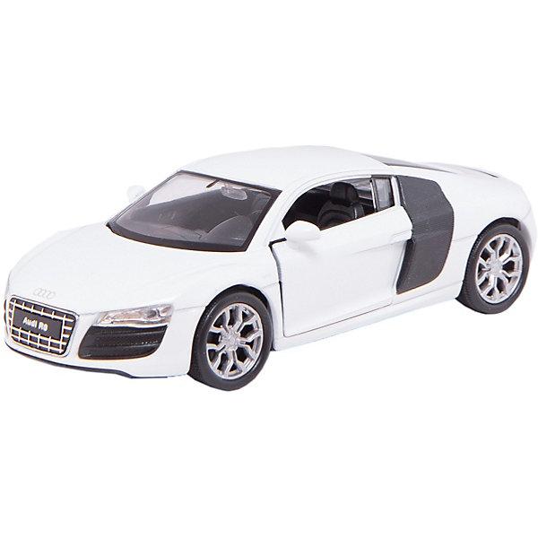 Модель машины 1:34-39 Audi R8, WellyМашинки<br>Модель машины Audi R8 от Welly (Велли) станет замечательным подарком для автолюбителей и коллекционеров всех возрастов. В коллекции масштабных моделей Welly представлено все многообразие автотехники: ретро-автомобили, легковые автомобили различных марок, грузовики, автомобили городских служб и многое другое. Все машинки отличаются высокой степенью детализации и тщательной проработкой всех элементов.<br><br>Машинка Audi R8 представляет собой точную копию настоящего автомобиля в масштабе 1:34-39. Немецкий автомобиль купе Audi R8 был выпущен в 2007 году и отличается оригинальностью дизайна с необычными передним фарами и боковыми декоративными панелями на кузове. Модель от Welly оснащена прочными стеклами и зеркалами заднего вида, интерьер салона и органы управления тщательно проработаны. Передние двери открываются. Автомобиль снабжен инерционным механизмом: если откатить машинку назад, а затем резко отпустить, автомобиль быстро поедет вперёд. Корпус машинки выполнен из металла, а отделка салона и декоративные элементы из пластика.<br><br>Дополнительная информация:<br><br>- Материал: металл, пластик, колеса прорезиненные.<br>- Масштаб: 1:34-39.<br>- Размер упаковки: 15 х 6 х 11 см.<br>- Вес: 0,145 кг. <br><br>Модель машины Audi R8, Welly можно купить в нашем интернет-магазине.<br><br>Ширина мм: 145<br>Глубина мм: 60<br>Высота мм: 115<br>Вес г: 146<br>Возраст от месяцев: 36<br>Возраст до месяцев: 192<br>Пол: Мужской<br>Возраст: Детский<br>SKU: 3777924
