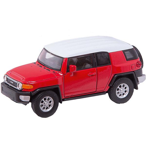 Модель машины 1:34-39 Toyota FJ Cruiser, WellyМашинки<br>Модель машины Toyota FJ Cruiser от Welly (Велли) станет замечательным подарком для автолюбителей и коллекционеров всех возрастов. В коллекции масштабных моделей Welly представлено все многообразие автотехники: ретро-автомобили, легковые автомобили различных марок, грузовики, автомобили городских служб и многое другое. Все машинки отличаются высокой степенью детализации и тщательной проработкой всех элементов.<br><br>Машинка Toyota FJ Cruiser представляет собой точную копию настоящего автомобиля в масштабе 1:34-39. Японский внедорожник Toyota FJ Cruiser впервые был представлен на Детройтском автосалоне в 2005 году, он отличается необычным дизайном высокой проходимостью, выносливостью и способностью передвигаться в любых дорожных условиях. Модель от Welly оснащена прочными стеклами и зеркалами заднего вида, интерьер салона и органы управления тщательно проработаны. Передние двери открываются. Автомобиль снабжен инерционным механизмом: если откатить машинку назад, а затем резко отпустить, автомобиль быстро поедет вперёд. Корпус машинки выполнен из металла, а отделка салона и декоративные элементы из пластика.<br><br>Дополнительная информация:<br><br>- Материал: металл, пластик, колеса прорезиненные.<br>- Масштаб: 1:34-39.<br>- Длина машинки: 10 см.<br>- Размер упаковки: 15 х 6 х 11 см.<br>- Вес: 0,155 кг. <br><br>Модель машины Toyota FJ Cruiser, Welly можно купить в нашем интернет-магазине.<br>Ширина мм: 60; Глубина мм: 150; Высота мм: 110; Вес г: 155; Возраст от месяцев: 36; Возраст до месяцев: 192; Пол: Мужской; Возраст: Детский; SKU: 3777925;