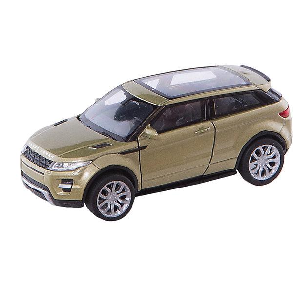 Модель машины 1:34-39 Range Rover Evoque, WellyМашинки<br>Модель машины Range Rover Evoque, Welly (Велли) станет замечательным подарком для автолюбителей и коллекционеров всех возрастов. В коллекции масштабных моделей Welly представлено все многообразие автотехники: ретро-автомобили, легковые автомобили различных марок, грузовики, автомобили городских служб и многое другое. Все машинки отличаются высокой степенью детализации и тщательной проработкой всех элементов.<br><br>Машинка Range Rover Evoque представляет собой точную копию настоящего автомобиля в масштабе 1:34-39. Джип Range Rover Evoque отличает легкость и компактность, и в то же время отличная приспособленность к любым погодным условиям и покрытиям. Модель от Welly оснащена прочными стеклами и зеркалами заднего вида, интерьер салона и панель управления тщательно проработаны. Передние двери открываются, колеса вращаются. Корпус машинки выполнен из металла, а отделка салона и декоративные элементы из пластика.<br><br>Дополнительная информация:<br><br>- Материал: металл, пластик, колеса прорезиненные.<br>- Масштаб: 1:34-39.<br>- Размер упаковки: 15 х 6 х 11 см.<br>- Вес: 0,155 кг. <br><br>Модель машины Range Rover Evoque, Welly можно купить в нашем интернет-магазине.<br>Ширина мм: 60; Глубина мм: 115; Высота мм: 150; Вес г: 155; Возраст от месяцев: 36; Возраст до месяцев: 192; Пол: Мужской; Возраст: Детский; SKU: 3777926;