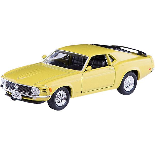 Модель винтажной машины 1:34-39 Ford Mustang 1970, WellyМашинки<br>Модель винтажной машины Ford Mustang 1970 от Welly (Велли) станет замечательным подарком для автолюбителей и коллекционеров всех возрастов. В коллекции масштабных моделей Welly представлено все многообразие автотехники: ретро-автомобили, легковые автомобили различных марок, грузовики, автомобили городских служб и многое другое. Все машинки отличаются высокой степенью детализации и тщательной проработкой всех элементов.<br><br>Машинка Ford Mustang 1970 представляет собой точную копию настоящего ретро-автомобиля в масштабе 1:34-39. Модель от Welly оснащена прочными стеклами и зеркалами заднего вида, интерьер салона и органы управления тщательно проработаны. Передние двери открываются. Автомобиль снабжен инерционным механизмом: если откатить машинку назад, а затем резко отпустить, автомобиль быстро поедет вперёд. Корпус машинки выполнен из металла, а отделка салона и декоративные элементы из пластика.<br><br>Дополнительная информация:<br><br>- Материал: металл, пластик, колеса прорезиненные.<br>- Масштаб: 1:34-39.<br>- Размер упаковки: 15 х 6 х 12 см.<br>- Вес: 0,15 кг. <br><br>Модель винтажной машины Ford Mustang 1970, Welly можно купить в нашем интернет-магазине.<br><br>Ширина мм: 150<br>Глубина мм: 60<br>Высота мм: 110<br>Вес г: 166<br>Возраст от месяцев: 36<br>Возраст до месяцев: 192<br>Пол: Мужской<br>Возраст: Детский<br>SKU: 3777928