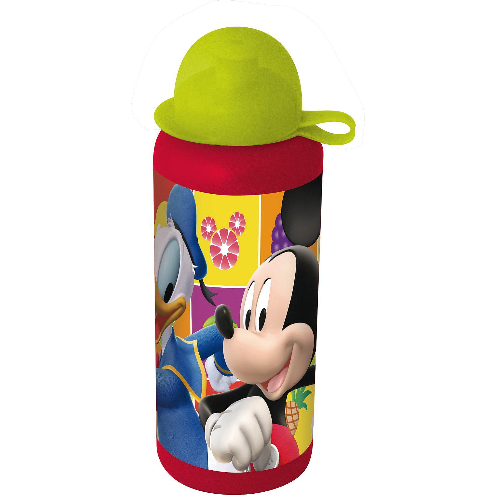 Бутылка спортивная (440 мл), Микки МаусБутылка спортивная (440 мл), Микки Маус станет приятным сюрпризом для поклонника мультфильма о Микки Маусе.<br>Яркая спортивная бутылка, выполненная из качественного пластика, с изображением веселого о Микки Мауса очень понравится ребенку и будет просто незаменима во время спортивных тренировок. Компактную бутылочку удобно брать с собой на прогулки, в походы или в школу. Ребенок с удовольствием будет пить из этой бутылки, а жизнерадостная картинка подарит ему хорошее настроение.<br><br>Дополнительная информация:<br><br>- Материал: высококачественный пластик<br>- Объем: 440 мл.<br>- Размер: 170 х 60 х 60 мм.<br><br>Бутылку спортивную (440 мл), Микки Маус (Mickey Mouse) можно купить в нашем интернет-магазине.<br><br>Ширина мм: 60<br>Глубина мм: 60<br>Высота мм: 170<br>Вес г: 49<br>Возраст от месяцев: 12<br>Возраст до месяцев: 120<br>Пол: Унисекс<br>Возраст: Детский<br>SKU: 3777946