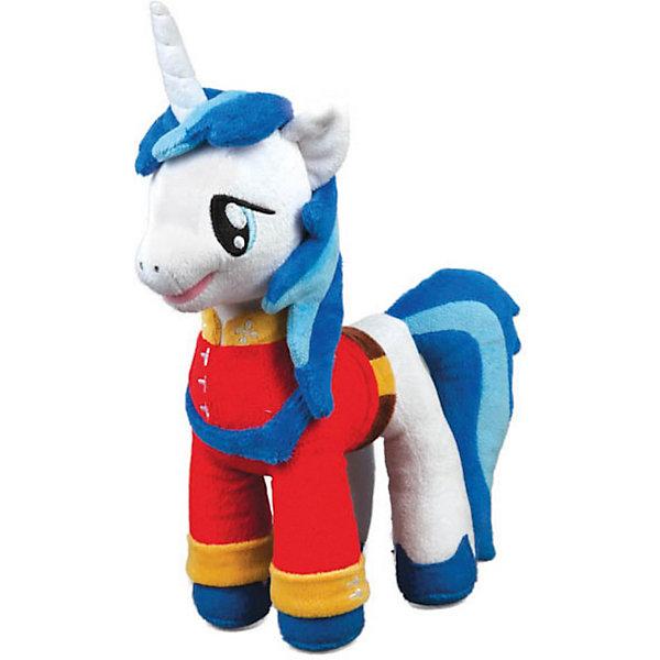 Пони Принц Армор, со звуком, My little Pony, МУЛЬТИ-ПУЛЬТИМузыкальные мягкие игрушки<br>Мягкая игрушка Пони Принц Армор, My little Pony (Моя маленькая Пони) от Мульти-Пульти станет замечательным подарком для Вашего ребенка. Принц Армор - один из персонажей популярного мультсериала Мой маленький пони (My Little Pony) о<br>сказочном городке Понивилле населенном волшебными очаровательными пони. Внешний вид игрушки полностью соответствует своему персонажу: пони принц одет в красный праздничный наряд, у него роскошная синяя грива и большие добрые глаза. Лошадка озвучена: произносит фразы и поет песенки из мультфильма.<br><br>Дополнительная информация:<br><br>- Материал: текстиль, синтепон.<br>- Требуются батарейки (входят в комплект).<br>- Высота лошадки: 25 см.<br>- Размер упаковки: 10 x 28 x 13 см.<br>- Вес: 0,28 кг.<br><br>Мягкую игрушку Пони Принц Армор, My little Pony, Мульти-Пульти можно купить в нашем интернет-магазине.<br><br>Ширина мм: 270<br>Глубина мм: 120<br>Высота мм: 430<br>Вес г: 290<br>Возраст от месяцев: 6<br>Возраст до месяцев: 60<br>Пол: Женский<br>Возраст: Детский<br>SKU: 3778117