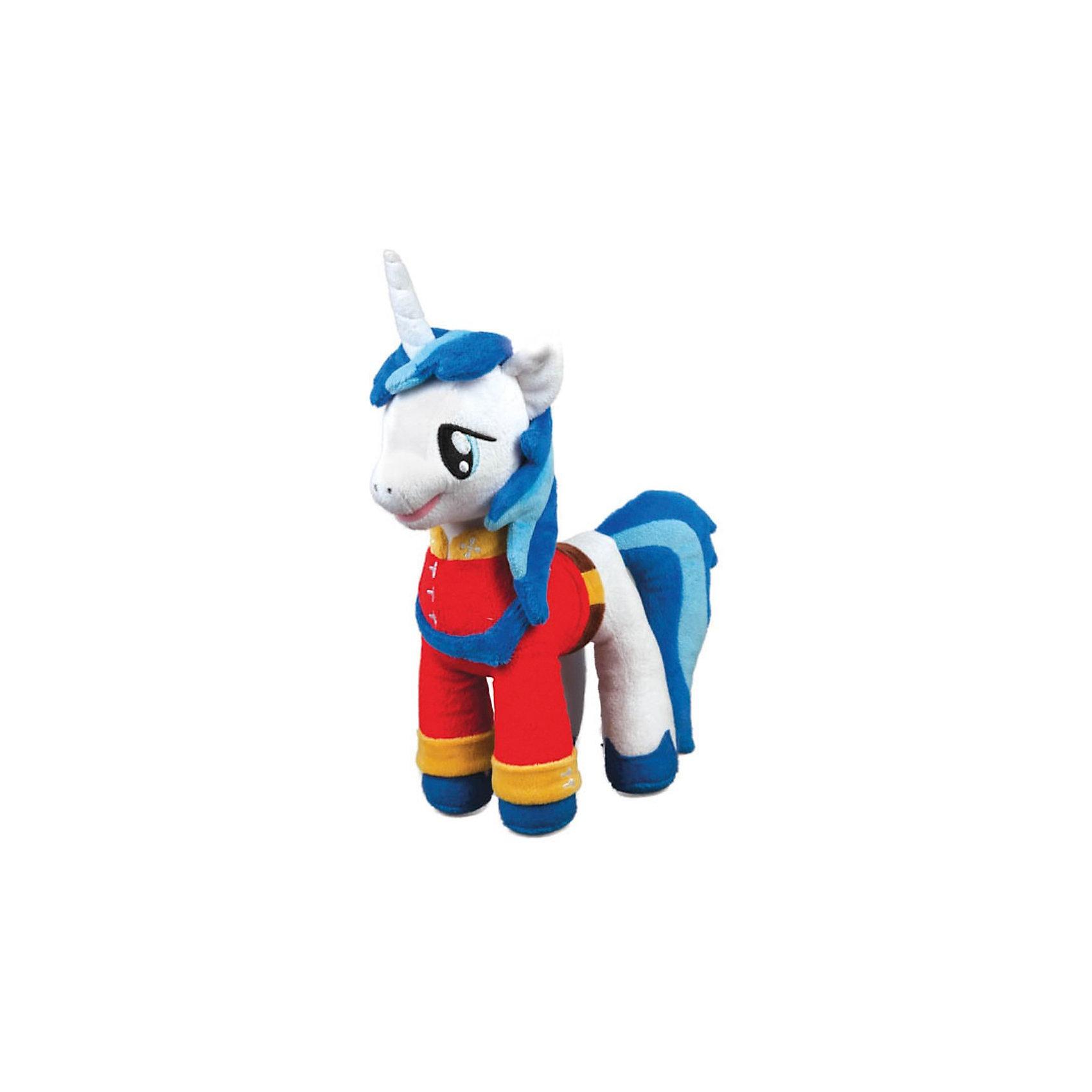 Пони Принц Армор, со звуком, My little Pony, МУЛЬТИ-ПУЛЬТИМягкая игрушка Пони Принц Армор, My little Pony (Моя маленькая Пони) от Мульти-Пульти станет замечательным подарком для Вашего ребенка. Принц Армор - один из персонажей популярного мультсериала Мой маленький пони (My Little Pony) о<br>сказочном городке Понивилле населенном волшебными очаровательными пони. Внешний вид игрушки полностью соответствует своему персонажу: пони принц одет в красный праздничный наряд, у него роскошная синяя грива и большие добрые глаза. Лошадка озвучена: произносит фразы и поет песенки из мультфильма.<br><br>Дополнительная информация:<br><br>- Материал: текстиль, синтепон.<br>- Требуются батарейки (входят в комплект).<br>- Высота лошадки: 25 см.<br>- Размер упаковки: 10 x 28 x 13 см.<br>- Вес: 0,28 кг.<br><br>Мягкую игрушку Пони Принц Армор, My little Pony, Мульти-Пульти можно купить в нашем интернет-магазине.<br><br>Ширина мм: 270<br>Глубина мм: 120<br>Высота мм: 430<br>Вес г: 290<br>Возраст от месяцев: 6<br>Возраст до месяцев: 60<br>Пол: Женский<br>Возраст: Детский<br>SKU: 3778117