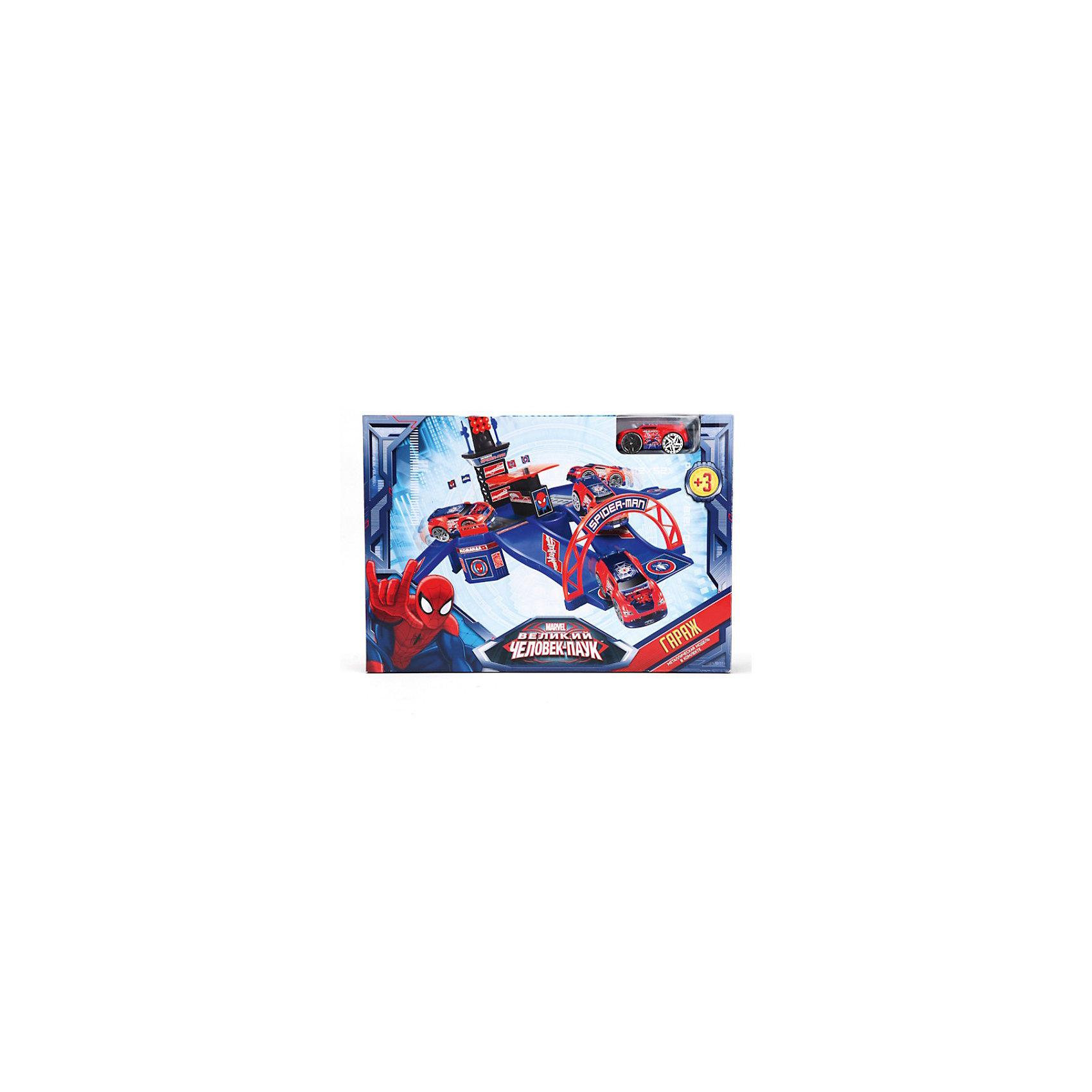 Гараж с металлической машиной , Человек-Паук, ТЕХНОПАРКГараж с металлической машиной, Человек-Паук, Технопарк - увлекательный игровой набор для сюжетно-ролевых игр, который не оставит равнодушным Вашего ребенка. Набор оформлен по мотивам популярных фильмов и комиксов о Человеке Пауке (Spider-Man) и включает в себя гараж и фантастическую машинку Человека-Паука. Гараж выполнен со множеством реалистичных деталей и открывающихся элементов. Машинка изготовлена из металла с элементами пластика, колеса со свободным ходом прорезинены.  <br><br>Дополнительная информация:<br><br>- Материал: пластик, металл.<br>- Размер упаковки: 36 х 26 х 7 см.<br>- Вес: 0,53 кг. <br><br>Игровой набор Гараж с металлической машиной, Человек-Паук (Spider-Man), Технопарк можно купить в нашем интернет-магазине.<br><br>Ширина мм: 360<br>Глубина мм: 260<br>Высота мм: 70<br>Вес г: 530<br>Возраст от месяцев: 36<br>Возраст до месяцев: 144<br>Пол: Мужской<br>Возраст: Детский<br>SKU: 3778128