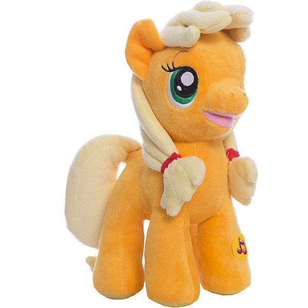 Пони Эпл Джек, со светом и звуком, My little Pony, МУЛЬТИ-ПУЛЬТИИгрушки<br>Мягкая игрушка Пони Эпл Джек, My little Pony от Мульти-Пульти станет замечательным подарком для Вашего ребенка. Пони Эпл Джек (Applejack) - героиня популярного мультсериала Мой маленький пони (My Little Pony) о сказочном городке Понивилле населенном волшебными очаровательными пони, это трудолюбивая честная лошадка, она живет на ферме и выращивает яблоки. Внешний вид<br>игрушки полностью соответствует своему персонажу, у лошадки светло-желтые грива и хвост и мягкая оранжевая шерстка. Лошадка озвучена: если нажать ей на лапку она будет произносит фразы и споет песенку из мультфильма. Во время звучания фразы или песенки у пони подсвечивается носик.<br><br>Дополнительная информация:<br><br>- Материал: текстиль, синтепон.<br>- Требуются батарейки: 3 х LR44 (входят в комплект).<br>- Высота лошадки: 23 см.<br>- Размер упаковки: 26 x 12 x 13 см.<br>- Вес: 0,28 кг.<br><br>Мягкую игрушку Пони Эпл Джек, My little Pony (Моя маленькая Пони), Мульти-Пульти можно купить в нашем интернет-магазине.<br>Ширина мм: 250; Глубина мм: 110; Высота мм: 400; Вес г: 290; Возраст от месяцев: 6; Возраст до месяцев: 60; Пол: Женский; Возраст: Детский; SKU: 3778133;