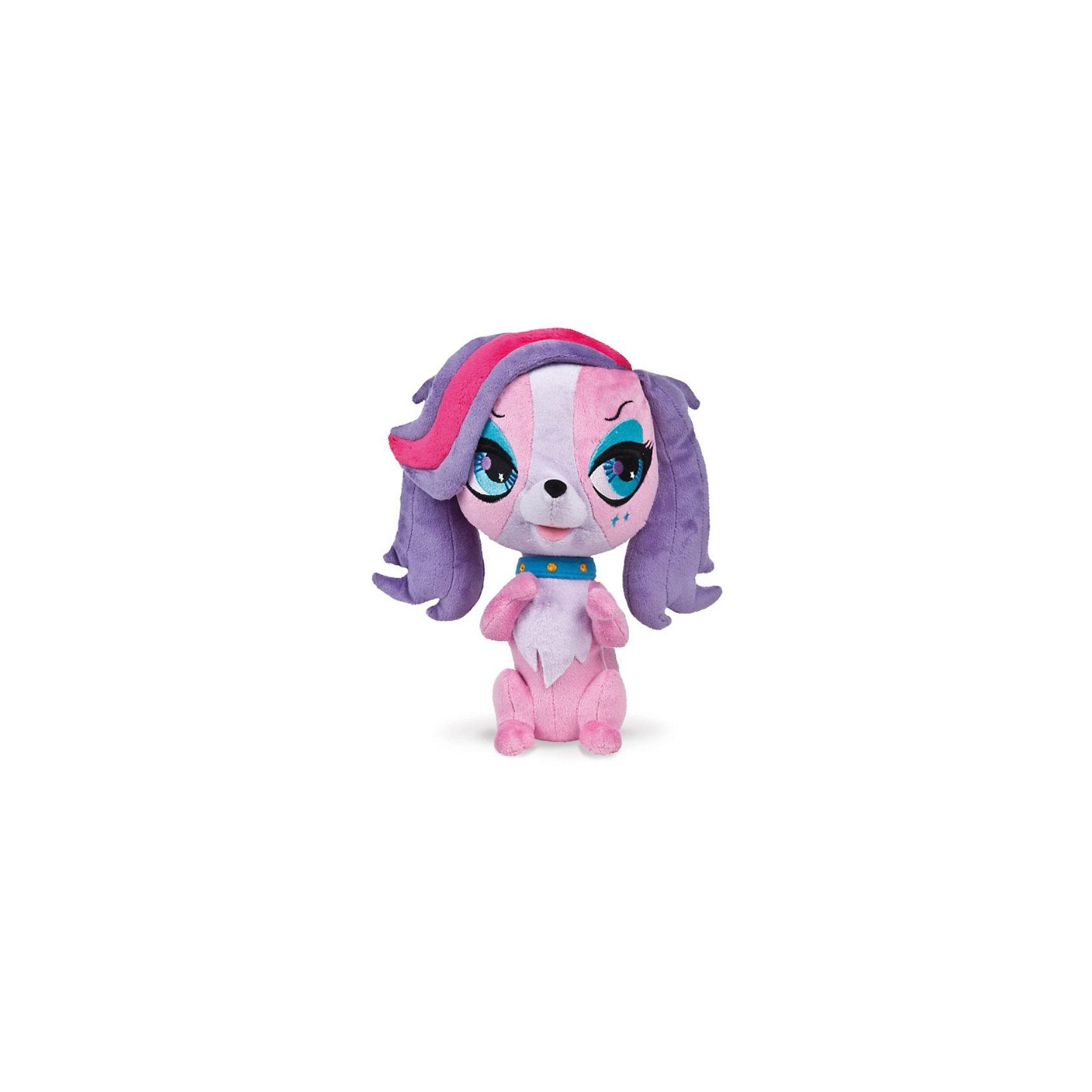 Собачка, 23 см, со звуком, Littlest Pet Shop, МУЛЬТИ-ПУЛЬТИМягкая игрушка Собачка, Littlest Pet Shop от Мульти-Пульти станет замечательным подарком для Вашей девочки, особенно если она является поклонницей забавных зверюшек Littlest Pet Shop (Маленький зоомагазин).Милая собачка из мультфильма Littlest Pet Shop очень похожа на свой мультперсонаж, у нее мягкая, приятная на ощупь розовая шерстка, большие глаза и длинные сиреневые ушки. Игрушка озвучена.<br><br>Дополнительная информация:<br><br>- Игрушка озвучена (работает от батареек - демонстрационные в комплекте)<br>- Материал: текстиль.<br>- Высота игрушки: 23 см.<br>- Размер упаковки: 13 x 37 x 25 см.<br>- Вес: 0,25 кг.<br><br>Мягкую игрушку Собачка, Littlest Pet Shop, Мульти-Пульти можно купить в нашем интернет-магазине.<br><br>Ширина мм: 130<br>Глубина мм: 370<br>Высота мм: 250<br>Вес г: 250<br>Возраст от месяцев: 6<br>Возраст до месяцев: 60<br>Пол: Женский<br>Возраст: Детский<br>SKU: 3778135