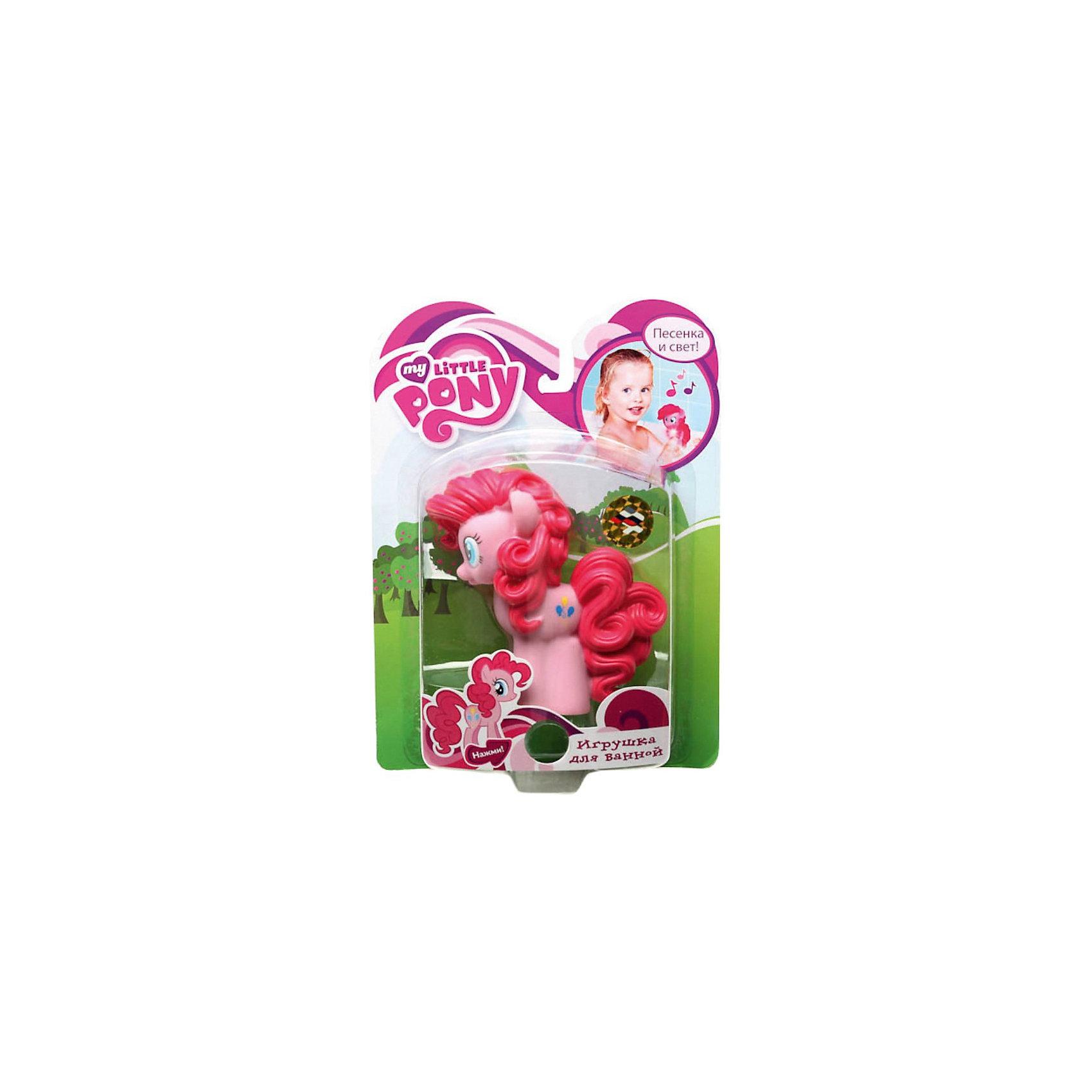 Пони Пинки Пай, со светом и звуком, My little Pony, Играем вместеИгрушки<br>Игрушка для купания Пони Пинки Пай, My little Pony, Играем вместе превратит купание ребенка в веселую увлекательную игру. Пони Пинки Пай (Pinkie Pie) - героиня популярного мультсериала Мой маленький пони (My Little Pony) о сказочном городке Понивилле населенном волшебными очаровательными пони, эта задорная лошадка с кудрявой ярко-розовой гривой - самая веселая и озорная во всем Понивилле. Внешний вид игрушки полностью соответствует своему персонажу.  Если нажать на лошадку, то можно прослушать песенку из мультфильма, лошадка при этом будет светиться.<br><br>Дополнительная информация:<br><br>- Материал: ПВХ.<br>- Высота игрушки: 12 см.<br>- Размер упаковки: 24 x 6 x 17 см. <br>- Вес: 170 гр.<br>- Для работы необходимы батарейки<br><br>Игрушку Пони Пинки Пай, My little Pony, Играем вместе можно купить в нашем интернет-магазине.<br><br>Ширина мм: 170<br>Глубина мм: 60<br>Высота мм: 240<br>Вес г: 170<br>Возраст от месяцев: 6<br>Возраст до месяцев: 36<br>Пол: Женский<br>Возраст: Детский<br>SKU: 3778147