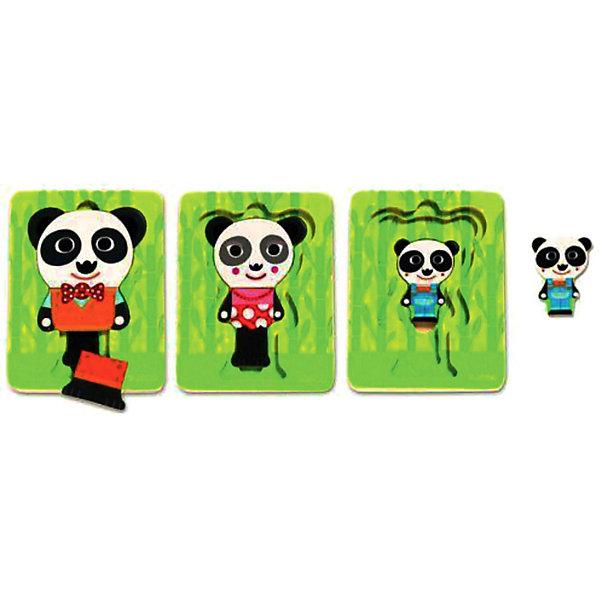 Трехслойный пазл Панда,  DJECOПазлы для малышей<br>Многослойные пазлы сейчас очень популярны! Ведь сочетают в себе и увлекательную игру и пользу пазла. Малышу всегда интересно добраться до картинки, которая расположена в самом низу. Представляем Вашему вниманию деревянный трехслойный пазл Панда, который познакомит малыша с семьей очаровательных панд. Покажите малышу, как сопоставлять цвета и формы и он с радостью будет собирать маленькую семью снова и снова. В процессе игры ребенок может поиграть с пандой и его семьей, познакомиться с понятиями больше - меньше, дальше - ближе. Пазл полностью выполнен из натурального дерева, все его детали гладкие и яркие, поэтому он очень хорошо подойдет начинающим любителям пазлов. Трехслойный пазл Панда стимулирует развитие пространственного, творческого мышления и дарит прекрасное настроение всей семье!<br><br>Дополнительная информация:<br><br>- Многослойный пазл из натурального дерева;<br>- Прекрасный тренажер для моторных навыков, логического мышления, внимания;<br>- Подходит для первого знакомства с пазлами;<br>- Три слоя;<br>- Яркие цвета, безопасные краски;<br>- Продается в коробочке удобной для хранения;<br>- Размер пазла: 11 х 16 х 2 см;<br>- Вес: 200 г<br><br>Трехслойный пазл Панда DJECO (Джеко) можно купить в нашем интернет-магазине.<br>Ширина мм: 110; Глубина мм: 150; Высота мм: 25; Вес г: 500; Возраст от месяцев: 12; Возраст до месяцев: 36; Пол: Унисекс; Возраст: Детский; SKU: 3778400;