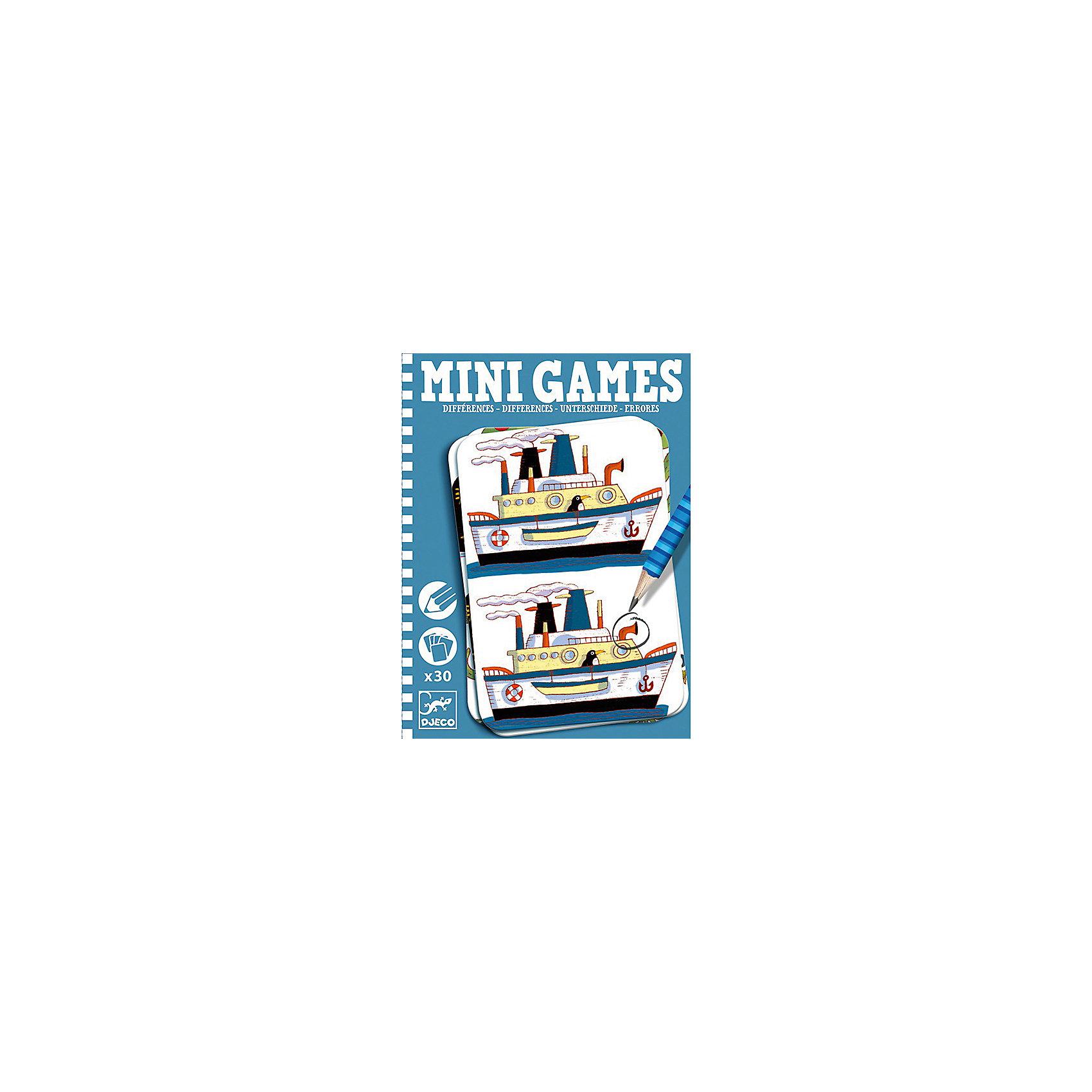 Мини игра Найди отличия: Реми,  DJECOЗабудьте о скучных путешествиях вместе с замечательной игрой Найди отличия: Реми от DJECO (Джеко). Теперь в мини формате! Игра очень красивая и компактная, поэтому она идеальный спутник для маленького непоседы. В комплекте 30 игровых карточек на которых нарисованы любимые детьми забавные картинки, между которыми необходимо найти 7 отличий. Игра настолько увлекательная, что ее можно использовать и для целой компании, находя отличия на скорость. Очень важно развивать у малыша внимание, усидчивость и логику. А лучше делать все это во время увлекательной игры, которая никогда не надоедает, ведь в наборе масса карточек с разными сюжетами!<br><br>Дополнительная информация: <br><br>- В наборе: 30 игровых карточек, карандаш;<br>- Удобно брать в путешествия;<br>- Можно играть одному или с компанией ;<br>- Отличный подарок;<br>- Понравится и взрослым и детям;<br>- Игра  продается в красивой картонной коробке;<br>- Размер упаковки: 11 х 15 х 2 см<br>- Вес: 250 г<br><br>Мини игру Найди отличия: Реми,  DJECO (Джеко) можно купить в нашем интернет-магазине.<br><br>Ширина мм: 110<br>Глубина мм: 150<br>Высота мм: 13<br>Вес г: 170<br>Возраст от месяцев: 72<br>Возраст до месяцев: 144<br>Пол: Унисекс<br>Возраст: Детский<br>SKU: 3778407
