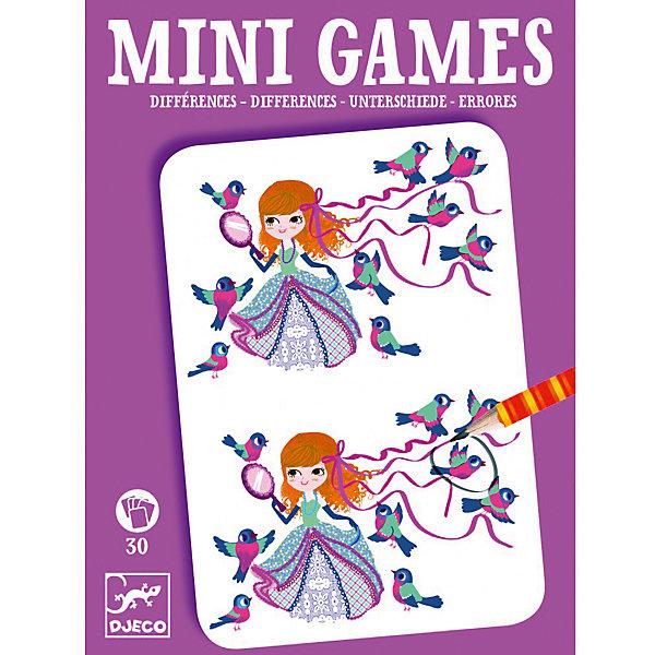 Мини игра Найди отличия: Леа,  DJECOИгры в дорогу<br>Забудьте о скучных путешествиях вместе с замечательной игрой Найди отличия: Леа от DJECO (Джеко). Теперь в мини формате! Игра очень красивая и компактная, поэтому она идеальный спутник для маленького непоседы. В комплекте 30 игровых карточек на которых нарисованы любимые детьми забавные картинки, между которыми необходимо найти 7 отличий. Игра настолько увлекательная, что ее можно использовать и для целой компании, находя отличия на скорость. Очень важно развивать у малыша внимание, усидчивость и логику. А лучше делать все это во время увлекательной игры, которая никогда не надоедает, ведь в наборе масса карточек с разными сюжетами!<br><br>Дополнительная информация: <br><br>- В наборе: 30 игровых карточек, карандаш;<br>- Удобно брать в путешествия;<br>- Можно играть одному или с компанией ;<br>- Отличный подарок;<br>- Понравится и взрослым и детям;<br>- Игра  продается в красивой картонной коробке;<br>- Размер упаковки: 11 х 15 х 2 см<br>- Вес: 250 г<br><br>Мини игру Найди отличия: Леа,  DJECO (Джеко) можно купить в нашем интернет-магазине.<br>Ширина мм: 110; Глубина мм: 150; Высота мм: 13; Вес г: 160; Возраст от месяцев: 72; Возраст до месяцев: 144; Пол: Унисекс; Возраст: Детский; SKU: 3778408;
