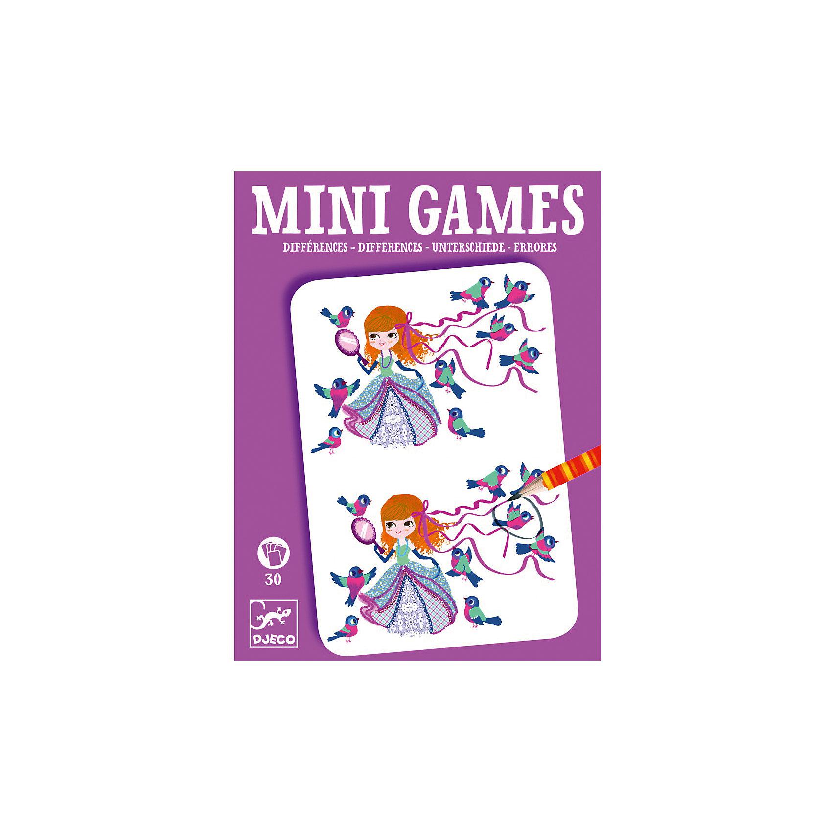 Мини игра Найди отличия: Леа,  DJECOИгры в дорогу<br>Забудьте о скучных путешествиях вместе с замечательной игрой Найди отличия: Леа от DJECO (Джеко). Теперь в мини формате! Игра очень красивая и компактная, поэтому она идеальный спутник для маленького непоседы. В комплекте 30 игровых карточек на которых нарисованы любимые детьми забавные картинки, между которыми необходимо найти 7 отличий. Игра настолько увлекательная, что ее можно использовать и для целой компании, находя отличия на скорость. Очень важно развивать у малыша внимание, усидчивость и логику. А лучше делать все это во время увлекательной игры, которая никогда не надоедает, ведь в наборе масса карточек с разными сюжетами!<br><br>Дополнительная информация: <br><br>- В наборе: 30 игровых карточек, карандаш;<br>- Удобно брать в путешествия;<br>- Можно играть одному или с компанией ;<br>- Отличный подарок;<br>- Понравится и взрослым и детям;<br>- Игра  продается в красивой картонной коробке;<br>- Размер упаковки: 11 х 15 х 2 см<br>- Вес: 250 г<br><br>Мини игру Найди отличия: Леа,  DJECO (Джеко) можно купить в нашем интернет-магазине.<br><br>Ширина мм: 110<br>Глубина мм: 150<br>Высота мм: 13<br>Вес г: 160<br>Возраст от месяцев: 72<br>Возраст до месяцев: 144<br>Пол: Унисекс<br>Возраст: Детский<br>SKU: 3778408