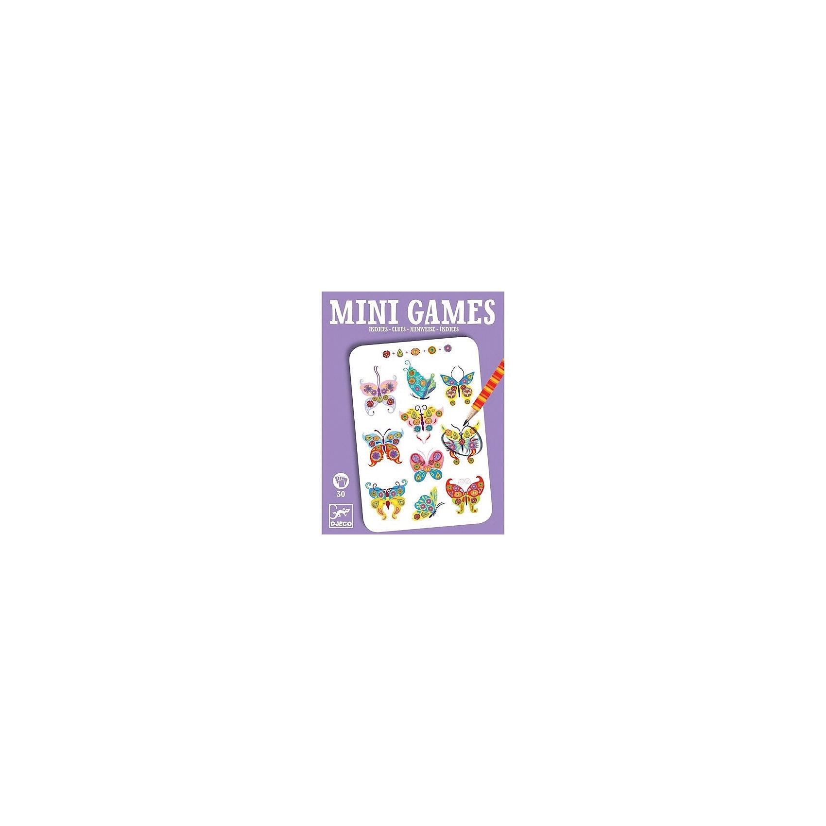 Мини игра Подсказки Феодоры,  DJECOИгры в дорогу<br>Забудьте о скучных путешествиях вместе с замечательной игрой Подсказки Феодоры от DJECO (Джеко). Теперь в мини формате! Игра очень красивая и компактная, поэтому она - идеальный спутник для маленького непоседы. В комплекте 30 игровых карточек на которых нарисованы любимые детьми забавные картинки. Ребенку необходимо изучить все подсказки и найти картинку, соответствующую этим подсказкам. Эта карточная игра не такая простая, как кажется на первый взгляд, для того, чтобы выполнить задание, необходимо быть внимательным и хорошо сконцентрироваться. Игра настолько увлекательная, что ее можно использовать и для целой компании, находя нужную картинку на скорость. Очень важно развивать у малыша внимание, усидчивость и логику. А лучше делать все это во время увлекательной игры, которая никогда не надоедает, ведь в наборе карточки с занимательными сюжетами!<br><br>Дополнительная информация: <br><br>- В наборе: 30 игровых карточек, карандаш;<br>- Удобно брать в путешествия;<br>- Можно играть одному или с компанией ;<br>- Отличный подарок;<br>- Понравится и взрослым и детям;<br>- Игра  продается в красивой картонной коробке;<br>- Размер упаковки: 11 х 15 х 2 см;<br>- Вес: 250 г<br><br>Мини игру Подсказки Феодоры,  DJECO (Джеко) можно купить в нашем интернет-магазине.<br><br>Ширина мм: 110<br>Глубина мм: 150<br>Высота мм: 13<br>Вес г: 170<br>Возраст от месяцев: 72<br>Возраст до месяцев: 144<br>Пол: Унисекс<br>Возраст: Детский<br>SKU: 3778411