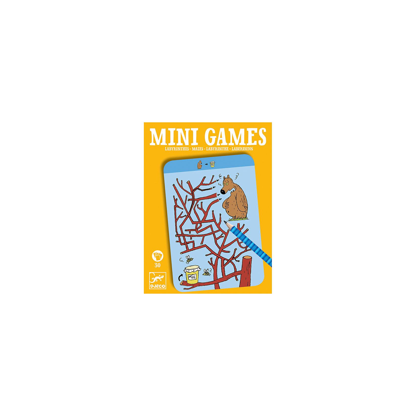 Мини игра Лабиринты Тесея,  DJECOРазвивающие игры<br>Забудьте о скучных путешествиях вместе с замечательной игрой Лабиринты Тесея от DJECO (Джеко). Теперь в мини формате! Игра очень красивая и компактная, поэтому она идеальный спутник для маленького непоседы. В комплекте 30 игровых карточек на которых нарисованы любимые детьми забавные картинки. Цель игры заключается в том, чтобы помочь персонажам игры добраться до нужного места, проводя животных через сложный лабиринт и не попасть в тупик. На игровых карточках изображены запутанные лабиринты и герои, которым необходима помощь. Помогите животным выйти из лабиринта и не заблудиться! Игра настолько увлекательная, что ее можно использовать и для целой компании, находя нужную дорогу на скорость. Очень важно развивать у малыша внимание, усидчивость и логику. А лучше делать все это во время увлекательной игры, которая никогда не надоедает, ведь в наборе карточки с занимательными сюжетами!<br><br>Дополнительная информация: <br><br>- В наборе: 30 игровых карточек, карандаш;<br>- Удобно брать в путешествия;<br>- Можно играть одному или с компанией ;<br>- Отличный подарок;<br>- Понравится и взрослым и детям;<br>- Игра  продается в красивой картонной коробке;<br>- Размер упаковки: 11 х 15 х 2 см;<br>- Вес: 250 г<br><br>Мини игру Лабиринты Тесея,  DJECO (Джеко) можно купить в нашем интернет-магазине.<br><br>Ширина мм: 110<br>Глубина мм: 150<br>Высота мм: 13<br>Вес г: 170<br>Возраст от месяцев: 72<br>Возраст до месяцев: 144<br>Пол: Унисекс<br>Возраст: Детский<br>SKU: 3778413