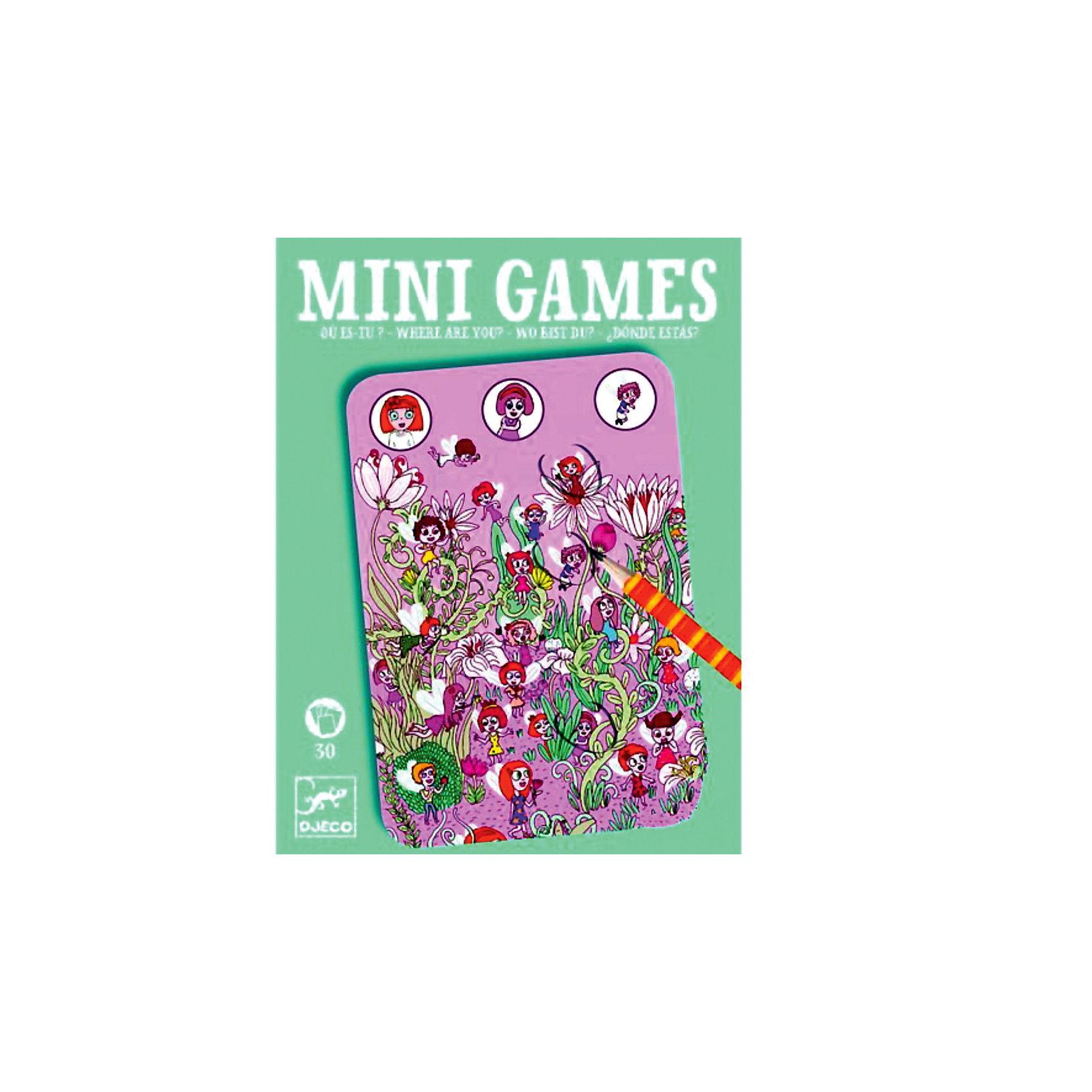 Мини игра Найди Розу,  DJECOЗабудьте о скучных путешествиях вместе с замечательной игрой Найди Розу от DJECO (Джеко). Теперь в мини формате! Игра очень красивая и компактная, поэтому она идеальный спутник для маленького непоседы. В комплекте 30 игровых карточек на которых нарисованы любимые детьми головоломки. Чудесная девочка Роза со своими веселыми друзьями притаилась в самых укромных уголках на ярких картинках. Цель игры – найти на карточке девочку и других персонажей и обвести их карандашом. Используй воображение, приглядись и обязательно обнаружишь затаившихся героев игры! Игра настолько увлекательная, что ее можно использовать и для целой компании, находя  персонажей на скорость. Очень важно развивать у малыша внимание, усидчивость и логику. А лучше делать все это во время увлекательной игры, которая никогда не надоедает, ведь в наборе карточки с занимательными сюжетами!<br><br>Дополнительная информация: <br><br>- В наборе: 30 игровых карточек, карандаш;<br>- Удобно брать в путешествия;<br>- Можно играть одному или с компанией ;<br>- Отличный подарок;<br>- Понравится и взрослым и детям;<br>- Игра  продается в красивой картонной коробке;<br>- Размер упаковки: 11 х 15 х 2 см;<br>- Вес: 250 г<br><br>Мини игру  Найди Розу,  DJECO (Джеко) можно купить в нашем интернет-магазине.<br><br>Ширина мм: 110<br>Глубина мм: 150<br>Высота мм: 13<br>Вес г: 170<br>Возраст от месяцев: 72<br>Возраст до месяцев: 144<br>Пол: Унисекс<br>Возраст: Детский<br>SKU: 3778414