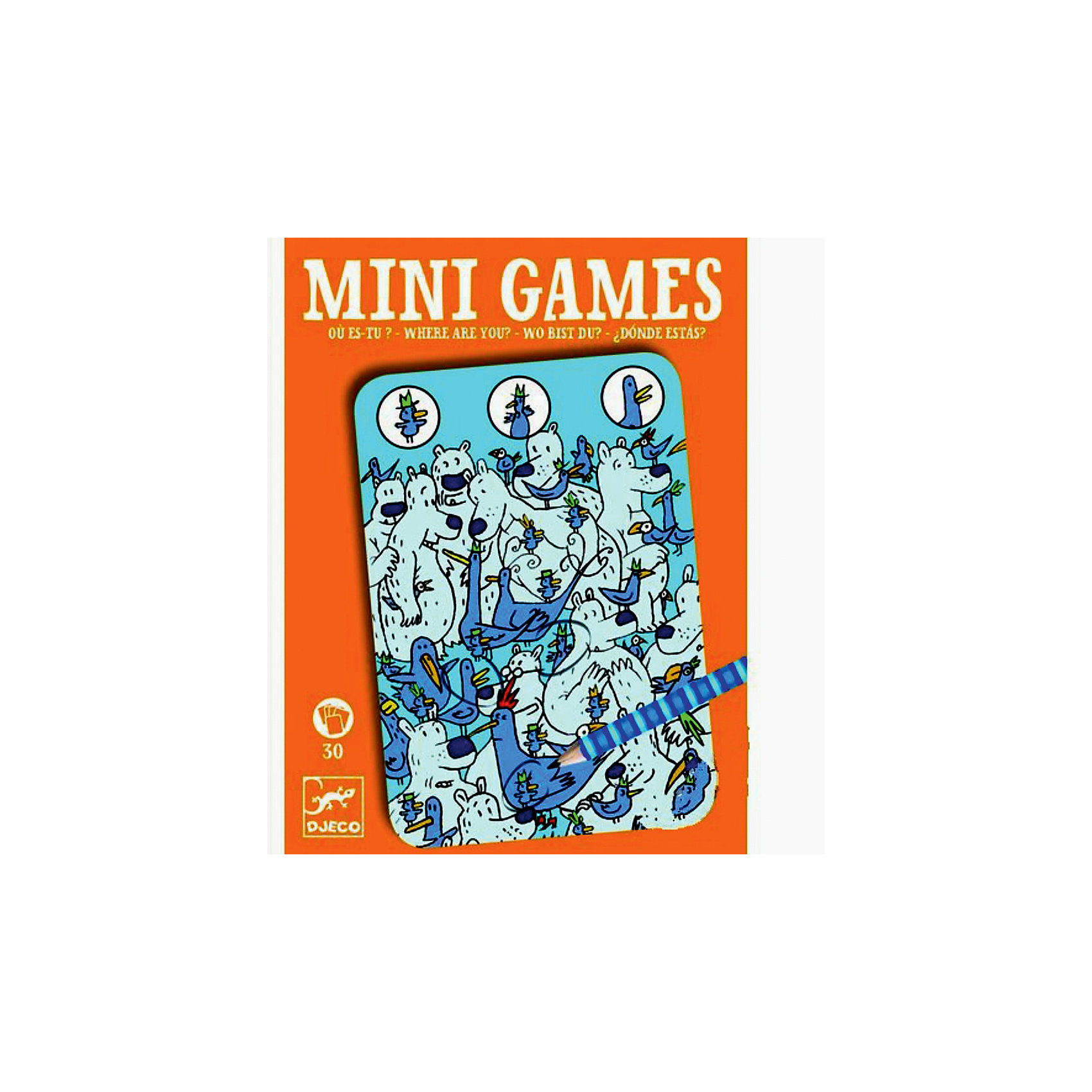 Мини игра Найди цыпленка,  DJECOЗабудьте о скучных путешествиях вместе с замечательной игрой Найди цыпленка от DJECO (Джеко). Теперь в мини формате! Игра очень красивая и компактная, поэтому она идеальный спутник для маленького непоседы. В комплекте 30 игровых карточек на которых нарисованы любимые детьми головоломки. Крохотный цыпленок Пиу-Пиу со своими веселыми друзьями притаился в самых укромных уголках на ярких картинках. Цель игры – найти на карточке цыпленка и других персонажей и обвести их карандашом. Используй воображение, приглядись и обязательно обнаружишь затаившихся героев игры! Игра настолько увлекательная, что ее можно использовать и для целой компании, находя  персонажей на скорость. Очень важно развивать у малыша внимание, усидчивость и логику. А лучше делать все это во время увлекательной игры, которая никогда не надоедает, ведь в наборе карточки с занимательными сюжетами!<br><br>Дополнительная информация: <br><br>- В наборе: 30 игровых карточек, карандаш;<br>- Удобно брать в путешествия;<br>- Можно играть одному или с компанией ;<br>- Отличный подарок;<br>- Понравится и взрослым и детям;<br>- Игра  продается в красивой картонной коробке;<br>- Размер упаковки: 11 х 15 х 2 см;<br>- Вес: 250 г<br><br>Мини игру  Найди цыпленка,  DJECO (Джеко) можно купить в нашем интернет-магазине.<br><br>Ширина мм: 110<br>Глубина мм: 150<br>Высота мм: 13<br>Вес г: 170<br>Возраст от месяцев: 72<br>Возраст до месяцев: 144<br>Пол: Унисекс<br>Возраст: Детский<br>SKU: 3778415
