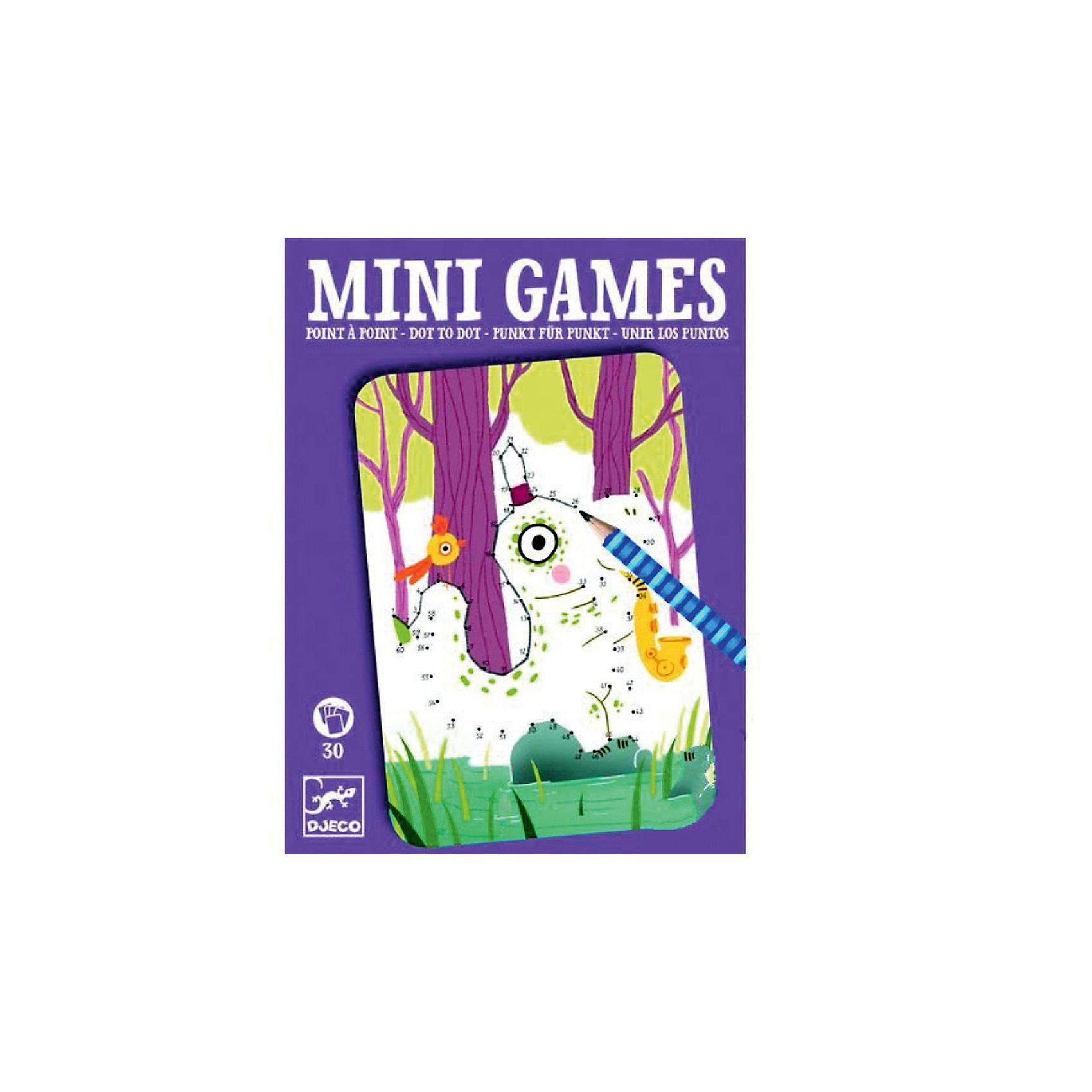 Мини игра Соедини точки: Артур,  DJECOЗабудьте о скучных путешествиях вместе с замечательной игрой Соедини точки:  Артур от DJECO (Джеко). Теперь в мини формате! Игра очень красивая и компактная, поэтому она идеальный спутник для маленького непоседы. В комплекте 30 игровых карточек на которых спрятаны любимые детьми забавные картинки. Цель игры – последовательно соединить точки так, чтобы получилась красивая картинка. Двигаться от точки к точке необходимо очень аккуратно и внимательно, в таком случае у тебя получится картинка с изображением забавного зверька! Игра настолько увлекательная, что ее можно использовать и для целой компании, рисуя персонажей на скорость. Очень важно развивать у малыша внимание, усидчивость и логику. А лучше делать все это во время увлекательной игры, которая никогда не надоедает, ведь в наборе карточки с занимательными сюжетами!<br><br>Дополнительная информация: <br><br>- В наборе: 30 игровых карточек, карандаш;<br>- Удобно брать в путешествия;<br>- Можно играть одному или с компанией ;<br>- Отличный подарок;<br>- Понравится и взрослым и детям;<br>- Игра  продается в красивой картонной коробке;<br>- Размер упаковки: 11 х 15 х 2 см;<br>- Вес: 250 г<br><br>Мини игру Соедини точки:  Артур,  DJECO (Джеко) можно купить в нашем интернет-магазине.<br><br>Ширина мм: 110<br>Глубина мм: 150<br>Высота мм: 13<br>Вес г: 170<br>Возраст от месяцев: 72<br>Возраст до месяцев: 144<br>Пол: Унисекс<br>Возраст: Детский<br>SKU: 3778417