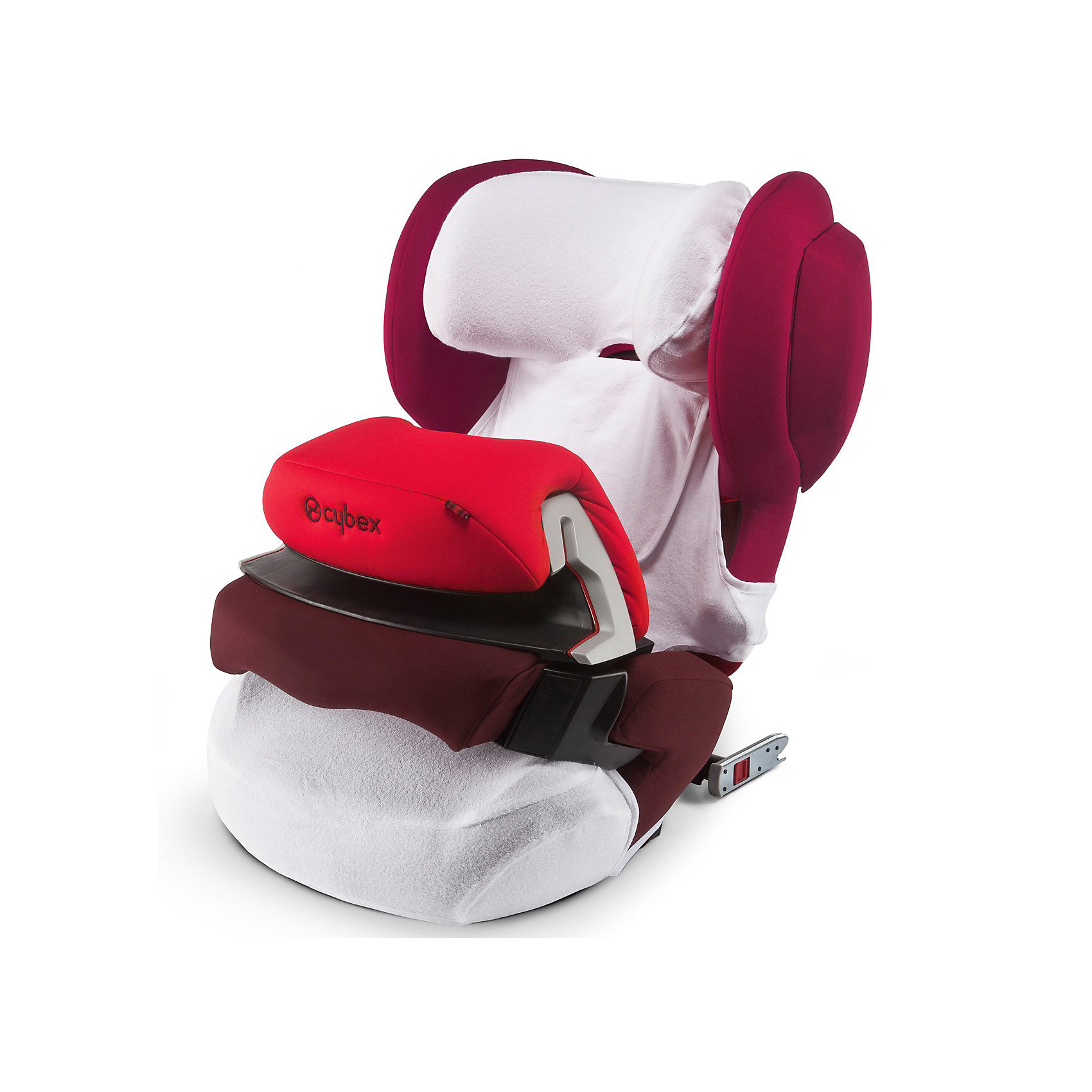 Летний чехол для Juno-Fix, CybexАксессуары<br>Даже хорошее автокресло требует определенного ухода, чтобы малыш ездил в чистоте и комфорте. Для автокресел Cybex Juno-Fix производитель создал специальный чехол.<br>Он защищает ребенка в автокресле от перегревания в жаркие дни, легко стирается, сделан из приятной на ощупь ткани, впитывает влагу,  защищает обивку кресла от загрязнения, обладает антибактериальными свойствами. Изделие произведено из качественных и безопасных для малышей материалов, оно соответствуют всем современным требованиям безопасности. Оно отлично показало себя на краш-тестах.<br> <br>Дополнительная информация:<br><br>материал: текстиль;<br>легкий;<br>поверхность пропускает воздух;<br>легко снять и выстирать;<br>подходит для автокресла Juno-Fix и модификаций.<br><br>Летний чехол для Juno-Fix от компании Cybex можно купить в нашем магазине.<br><br>Ширина мм: 213<br>Глубина мм: 215<br>Высота мм: 71<br>Вес г: 194<br>Цвет: белый<br>Возраст от месяцев: 9<br>Возраст до месяцев: 36<br>Пол: Унисекс<br>Возраст: Детский<br>SKU: 3779381