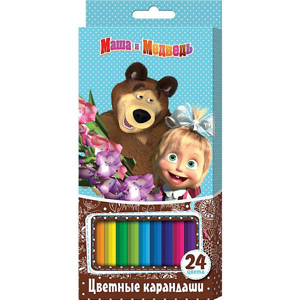 Цветные карандаши (24 цвета, шестигранные), Маша и МедведьМаша и Медведь<br>Цветные карандаши (24 цвета, шестигранные), Маша и Медведь порадуют юного художника. В наборе «Маша и Медведь» 24 цветных шестигранных карандаша, идеально подходящих для рисования, письма и раскрашивания и не требующих сильного нажатия, поэтому крохе будет легко ими рисовать. Карандаши обладают яркими цветами, безопасны при использовании по назначению, легко затачиваются, изготовлены из высококачественной древесины, имеют прочный грифель, который не сломается при заточке и не раскрошится внутри корпуса, если ребёнок нечаянно уронит карандаш на пол.<br><br>Дополнительная информация:<br><br>- Количество: 24 шт.<br>- Шестигранная форма<br>- Насыщенные цвета<br>- Материал корпуса: древесина<br>- Размер: 210 x 90 х 15 мм.<br>- Вес: 150 гр.<br><br>Цветные карандаши (24 цвета, шестигранные), Маша и Медведь можно купить в нашем интернет-магазине.<br>Ширина мм: 210; Глубина мм: 90; Высота мм: 15; Вес г: 150; Возраст от месяцев: 36; Возраст до месяцев: 108; Пол: Унисекс; Возраст: Детский; SKU: 3781203;