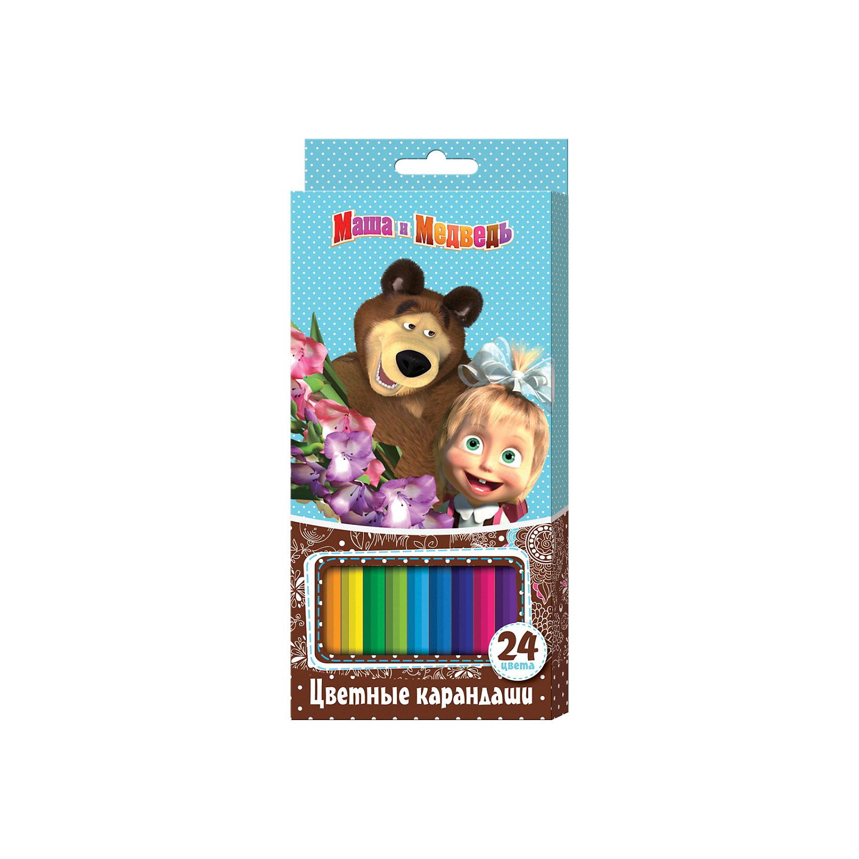Цветные карандаши (24 цвета, шестигранные), Маша и МедведьМаша и Медведь<br>Цветные карандаши (24 цвета, шестигранные), Маша и Медведь порадуют юного художника. В наборе «Маша и Медведь» 24 цветных шестигранных карандаша, идеально подходящих для рисования, письма и раскрашивания и не требующих сильного нажатия, поэтому крохе будет легко ими рисовать. Карандаши обладают яркими цветами, безопасны при использовании по назначению, легко затачиваются, изготовлены из высококачественной древесины, имеют прочный грифель, который не сломается при заточке и не раскрошится внутри корпуса, если ребёнок нечаянно уронит карандаш на пол.<br><br>Дополнительная информация:<br><br>- Количество: 24 шт.<br>- Шестигранная форма<br>- Насыщенные цвета<br>- Материал корпуса: древесина<br>- Размер: 210 x 90 х 15 мм.<br>- Вес: 150 гр.<br><br>Цветные карандаши (24 цвета, шестигранные), Маша и Медведь можно купить в нашем интернет-магазине.<br><br>Ширина мм: 210<br>Глубина мм: 90<br>Высота мм: 15<br>Вес г: 150<br>Возраст от месяцев: 36<br>Возраст до месяцев: 108<br>Пол: Унисекс<br>Возраст: Детский<br>SKU: 3781203
