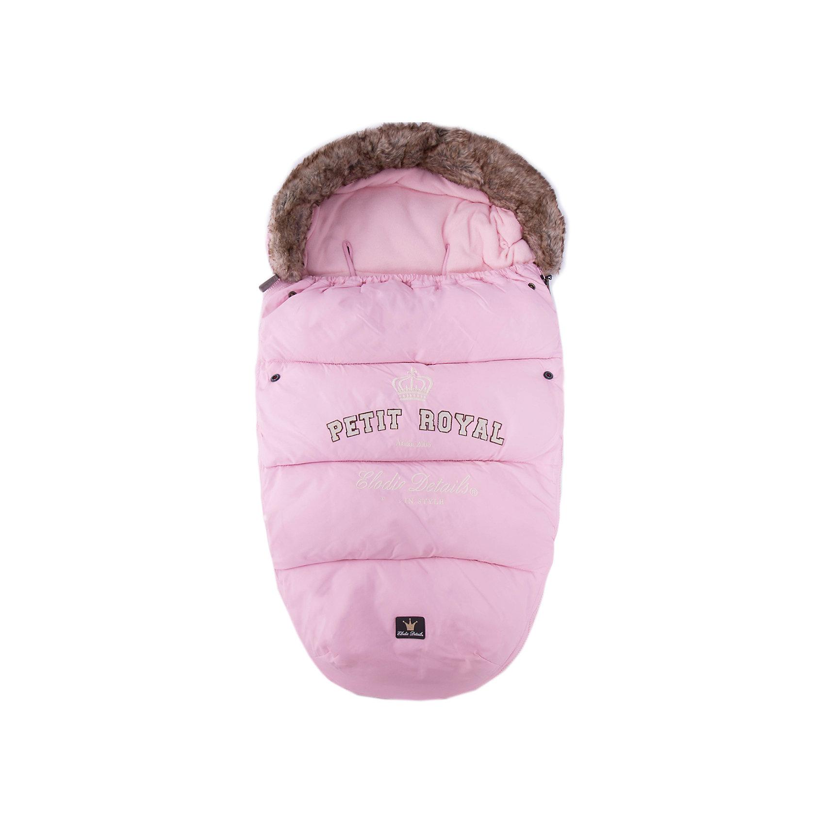 Конверт зимний с опушкой Petit Royal Pink, Elodie DetailsЗимние конверты<br>Конверт зимний с опушкой Petit Royal Pink, Elodie Details (Элоди Дитейлс) <br><br>Характеристики:<br><br>• водо- и ветронепроницаемый материал<br>• теплая флисовая подкладка<br>• верх-капюшон<br>• молния с двух сторон<br>• прорези для 4-точечных ремней безопасности<br>• подходит для всех колясок, в том числе прогулочных<br>• размер: 53х110 см<br>• материал верха: нейлон<br>• материал подкладки: флис<br>• подходит для ручной и автоматической стирки<br>• цвет: розовый<br><br>Каждая прогулка должна проходить с комфортом для малыша. Зимний конверт Petit Royal защитит кроху от мороза и холодного ветра. Верх конверта изготовлен из нейлона, который не пропустит воду и ветер внутрь. Подкладка из мягкого флиса согреет малыша и сохранит тепло в течение всей прогулки. Верх конверта можно использовать в качестве капюшона, защищающего от холодного и сильного ветра. Конверт имеет удобную форму и не стесняет движений ребенка. Кроме того, конверт отлично подходит для всех колясок, в том числе и прогулочных. Подарите малышу уют и тепло во время зимних прогулок!<br><br>Конверт зимний с опушкой Petit Royal Pink, Elodie Details (Элоди Дитейлс) вы можете купить в нашем интернет-магазине.<br><br>Ширина мм: 1100<br>Глубина мм: 530<br>Высота мм: 60<br>Вес г: 900<br>Возраст от месяцев: 0<br>Возраст до месяцев: 12<br>Пол: Женский<br>Возраст: Детский<br>SKU: 3783523