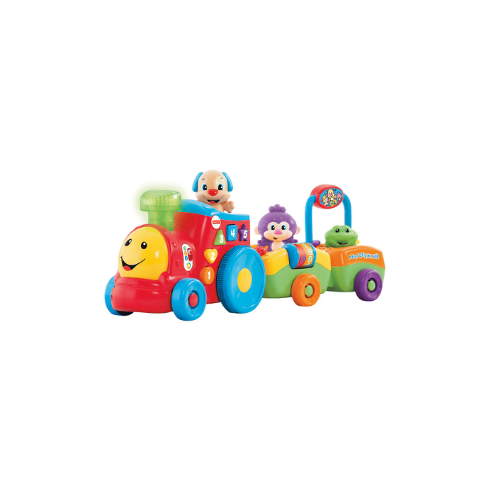 Mattel Паровозик ученого щенка, серия Смейся и учись, Fisher-Price fisher price базовый паровозик thomas&friends