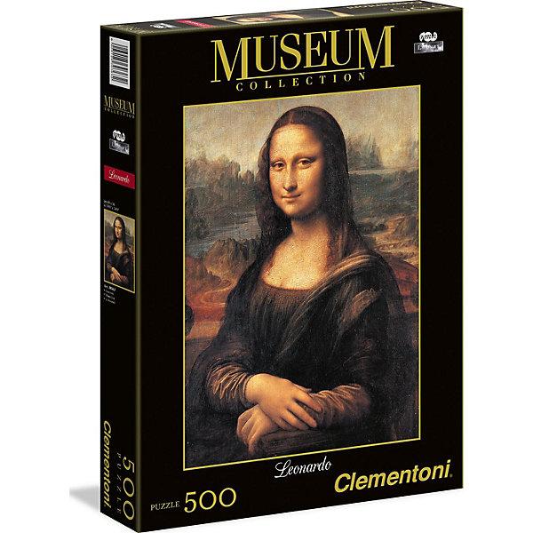 Пазл Мона Лиза  500 деталей, ClementoniПазлы для детей постарше<br>Пазл Мона Лиза 500 деталей от компании Clementoni (Клементони) без сомнения, придется Вам по душе. Из деталей этого пазла можно собрать бессмертный шедевр — репродукцию картины Леонардо Да Винчи «Мона Лиза». Теперь знаменитое полотно появится у Вас дома, и Вы будете любоваться творением знаменитого художника, наслаждаясь совершенством и загадочной улыбкой Мона Лизы. <br>Пазлы - прекрасное антистрессовое средство для взрослых и замечательная развивающая игра для детей. Сборка пазла развивает у ребенка мелкую моторику рук, тренирует наблюдательность, логическое мышление, знакомит с окружающим миром, с цветом и разнообразными формами, учит усидчивости и терпению, аккуратности и вниманию. Сборка пазла - прекрасное времяпрепровождение для всей семьи.<br><br>Дополнительная информация:<br><br>- Материал: картон<br>- Размер собранного пазла: 49х36 см.<br>- Размер коробки: 34,3х24,9х3,5 см.<br><br>Пазл Мона Лиза  500 деталей, Clementoni (Клементони) можно купить в нашем интернет-магазине.<br><br>Ширина мм: 344<br>Глубина мм: 46<br>Высота мм: 254<br>Вес г: 483<br>Возраст от месяцев: 120<br>Возраст до месяцев: 216<br>Пол: Унисекс<br>Возраст: Детский<br>Количество деталей: 500<br>SKU: 3784340