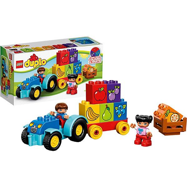 LEGO DUPLO 10615: Мой первый тракторПластмассовые конструкторы<br>Набор LEGO DUPLO (ЛЕГО Дупло) 10615: Мой первый трактор предназначен для самых маленьких. Все детали сделаны из безопасного стойкого к ударам пластика и имеют закругленную форму, которая подойдет для маленьких детских ручек. В наборе 6 кубиков с изображением ягод и фруктов, причем их цвет соответствует цветам плодов, что позволит ребенку в игровой форме выучить их названия. Став постарше, при помощи мини-фигурок – мальчика и девочки, – ребенок сможет самостоятельно разыгрывать сюжеты на тему сбора урожая, например, укладывание кубиков в кузов трактора.<br><br>Конструкторы LEGO DUPLO (ЛЕГО ДУПЛО), предназначенные для детей дошкольного возраста, сочетают игру и обучение, а также развивают мелкую моторику, пространственное мышление и творческие способности малышей и дошкольников. Кубики LEGO DUPLO (ЛЕГО ДУПЛО) в 8 раз больше, чем обычные кубики, что позволяет ребенку удобно их держать и быстро строить. Большое количество дополнительных элементов делает игровые сюжеты по-настоящему захватывающими и реалистичными. Все наборы ЛЕГО ДУПЛО соответствуют самым высоким европейским стандартам качества и абсолютно безопасны. <br><br>Дополнительная информация:<br>-Размер упаковки: 26,2х14,1х9,1 см<br>-Размеры трактора: 11 х 23 х 7 см<br>-Вес: 0,32 кг<br>-Деталей: 12 шт.<br>-Материал: пластик<br>-Весь набор упакован в фирменную картонную коробку ЛЕГО<br><br>LEGO DUPLO (ЛЕГО Дупло) 10615: Мой первый трактор можно купить в нашем магазине.<br>Ширина мм: 267; Глубина мм: 141; Высота мм: 97; Вес г: 314; Возраст от месяцев: 18; Возраст до месяцев: 60; Пол: Мужской; Возраст: Детский; SKU: 3786048;
