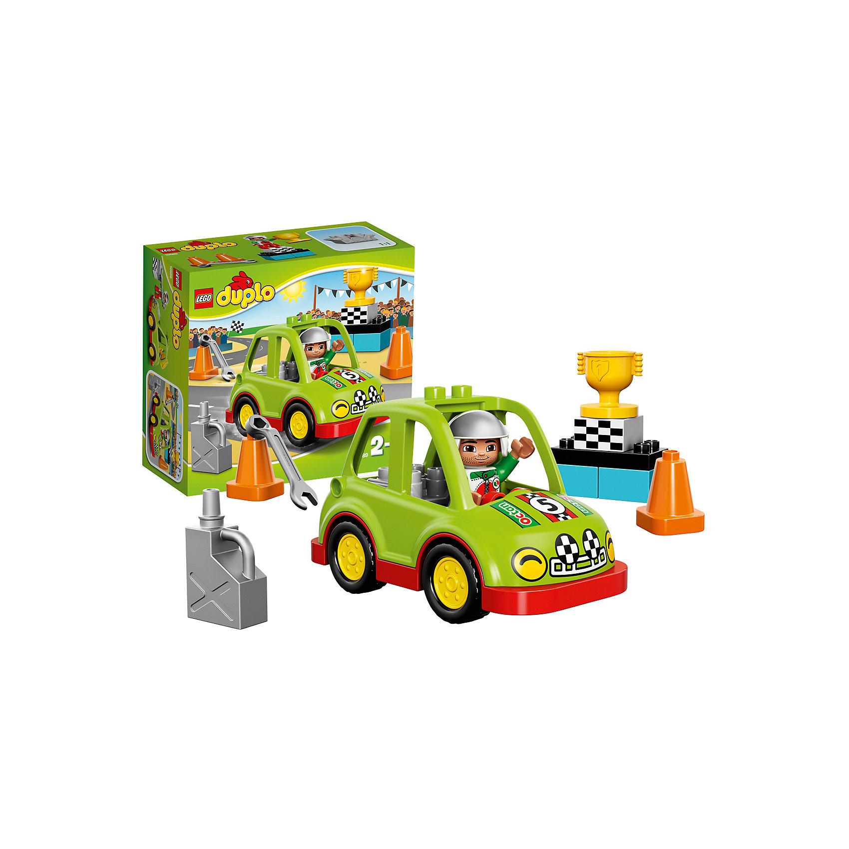 лего дупло гусеница LEGO LEGO DUPLO 10589: Гоночный автомобиль