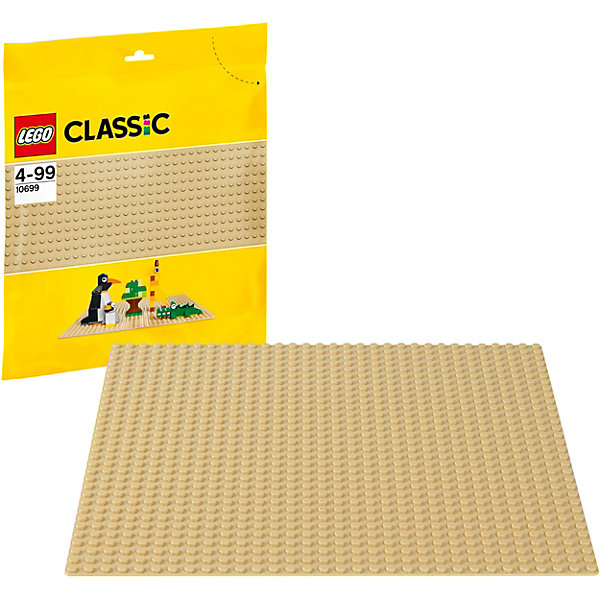 LEGO  10699: Строительная пластина желтого цветаПластмассовые конструкторы<br>Создаете ли вы пляж, зоопарк, пустыню, дом или что-то продиктованное вам собственным воображением, эта базовая пластина песочного цвета — идеальная отправная точка для сборки, демонстрации ваших творений из LEGO и игры с ними. Пластина подходит для всех стандартных наборов ЛЕГО.<br><br>Дополнительная информация:<br><br>- Размер пластины: 25х25 см. <br>- С каждой стороны по 32 выступа<br>- Материал: пластик.<br>- Цвет: желтый.<br><br>LEGO  10699: Строительную пластину желтого цвета можно купить в нашем магазине.<br><br>Ширина мм: 279<br>Глубина мм: 266<br>Высота мм: 10<br>Вес г: 99<br>Возраст от месяцев: 48<br>Возраст до месяцев: 144<br>Пол: Унисекс<br>Возраст: Детский<br>SKU: 3786100