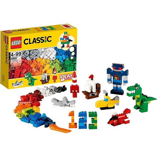 LEGO  10693: Дополнение к набору для творчества – яркие цветаКонструкторы Лего<br>От космических ракет и роботов до динозавров и акул – этот набор с кубиками 20 ярких цветов и причудливыми элементами позволит вам собрать все, что придет вам в голову! Не знаете с чего начать? Воспользуйтесь инструкцией с идеями и рекомендациями дизайнеров. Этот набор идеально дополнит либо уже имеющийся набор LEGO.<br><br>Наборы для творчества LEGO (ЛЕГО)  идеальны для начинающих строителей всех возрастов. Они также дополнят любую имеющуюся коллекцию LEGO. Набор упакован в удобную пластиковую коробку. <br><br>Дополнительная информация:<br><br>- Конструкторы ЛЕГО развивают усидчивость, внимание, фантазию и мелкую моторику. <br>- Комплектация: кубики. <br>- Количество деталей: 303 шт.<br>- Серия ЛЕГО (LEGO) Наборы для творчества.<br>- Материал: пластик.<br>- Размер упаковки: 26х19х7 см.<br>- Вес: 0,575 кг.<br><br>LEGO  10693: Дополнение к набору для творчества – яркие цвета можно купить в нашем магазине.<br><br>Ширина мм: 263<br>Глубина мм: 190<br>Высота мм: 73<br>Вес г: 494<br>Возраст от месяцев: 48<br>Возраст до месяцев: 144<br>Пол: Унисекс<br>Возраст: Детский<br>SKU: 3786104