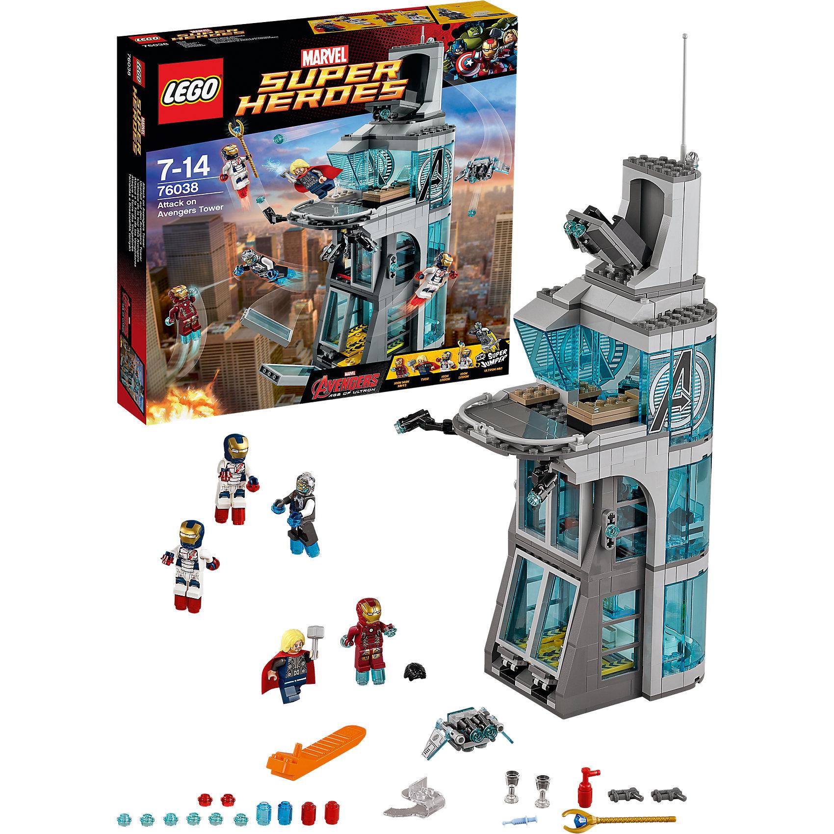 LEGO LEGO Super Heroes 76038: Нападение на башню Мстителей lego lego super heroes 76049 реактивный самолёт мстителей космическая миссия