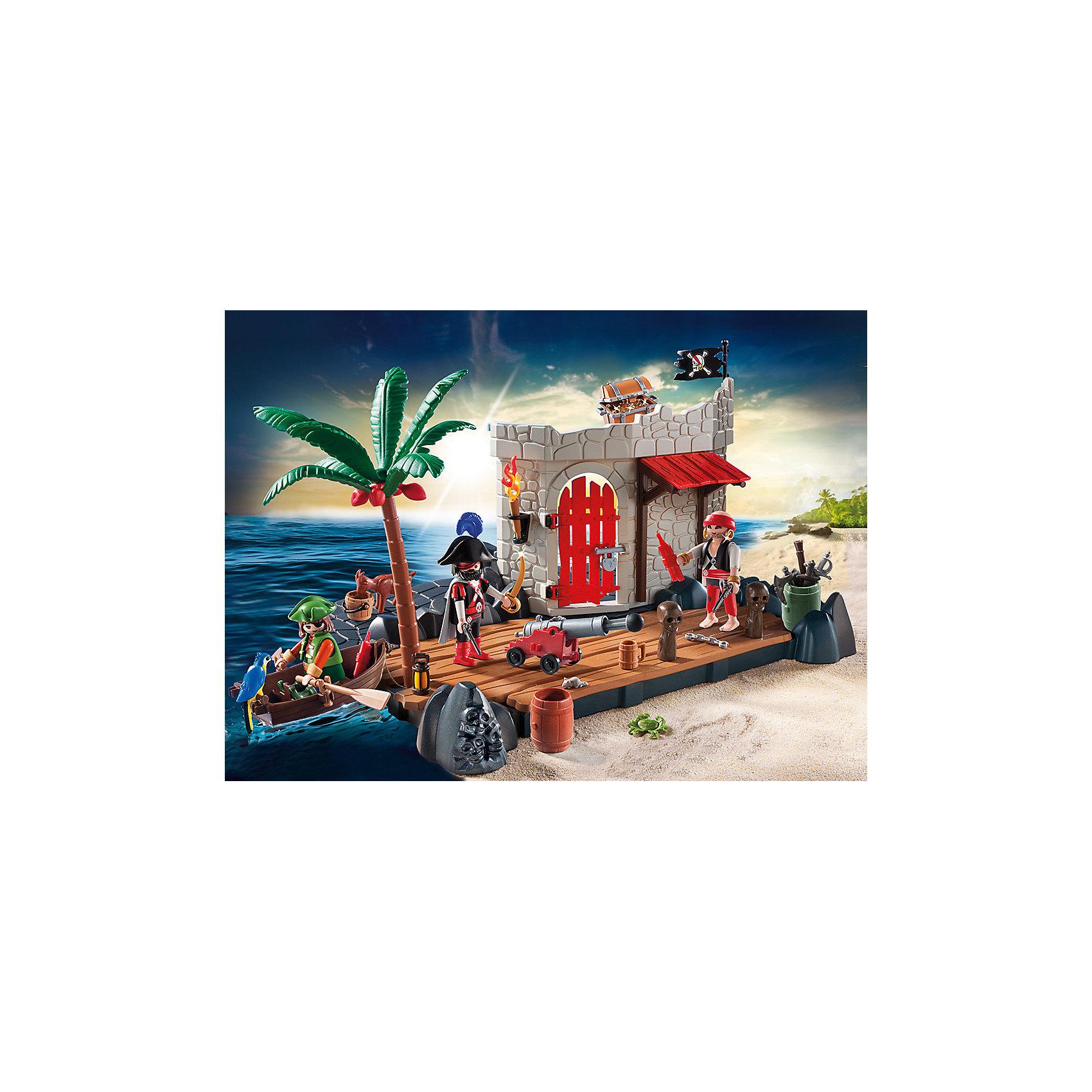 PLAYMOBIL® Супер набор: Пиратский Форт, PLAYMOBIL playmobil® зоопарк стая фламинго playmobil