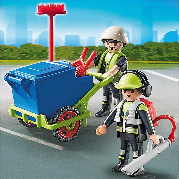 Городские службы: Команда по уборке улиц города, PLAYMOBILПластмассовые конструкторы<br><br>Ширина мм: 144; Глубина мм: 141; Высота мм: 46; Вес г: 100; Возраст от месяцев: 48; Возраст до месяцев: 120; Пол: Мужской; Возраст: Детский; SKU: 3786350;